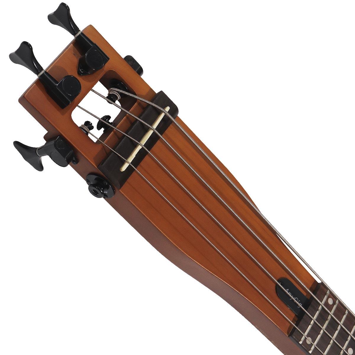 anygig agb full scale 34 travelerer 4 strings bass guitar backpacker protable ebay. Black Bedroom Furniture Sets. Home Design Ideas