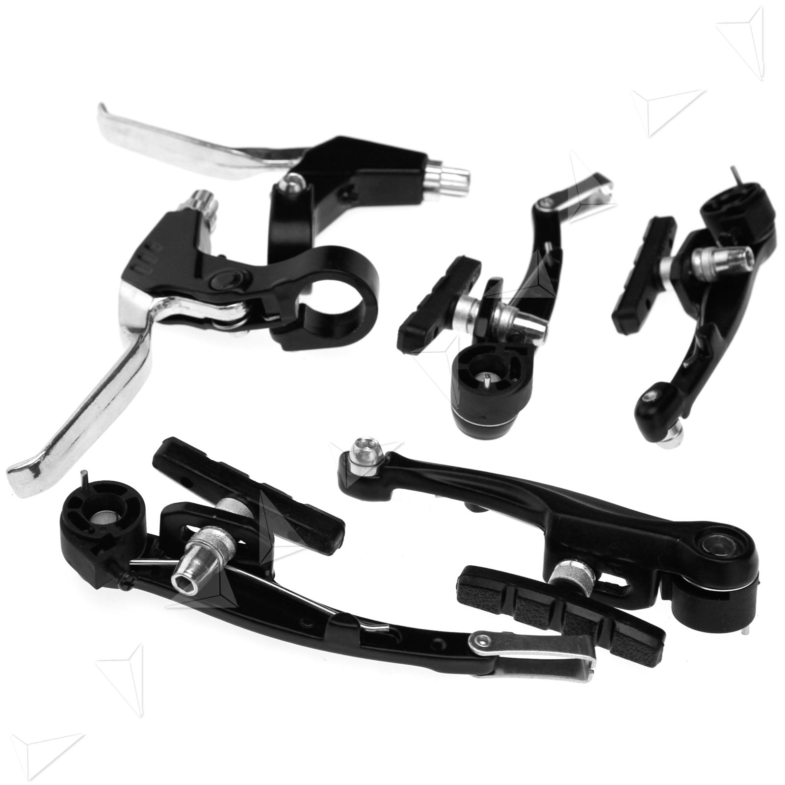 Cable Brake Lever : Brake levers v brakes cables caliper set for bmx mountain