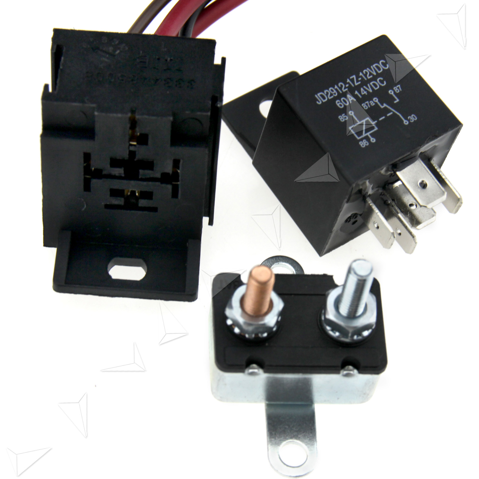 5 pins relay 200 185 degree engine cooling fan thermostat switch sensor kits - Four 200 degres thermostat ...