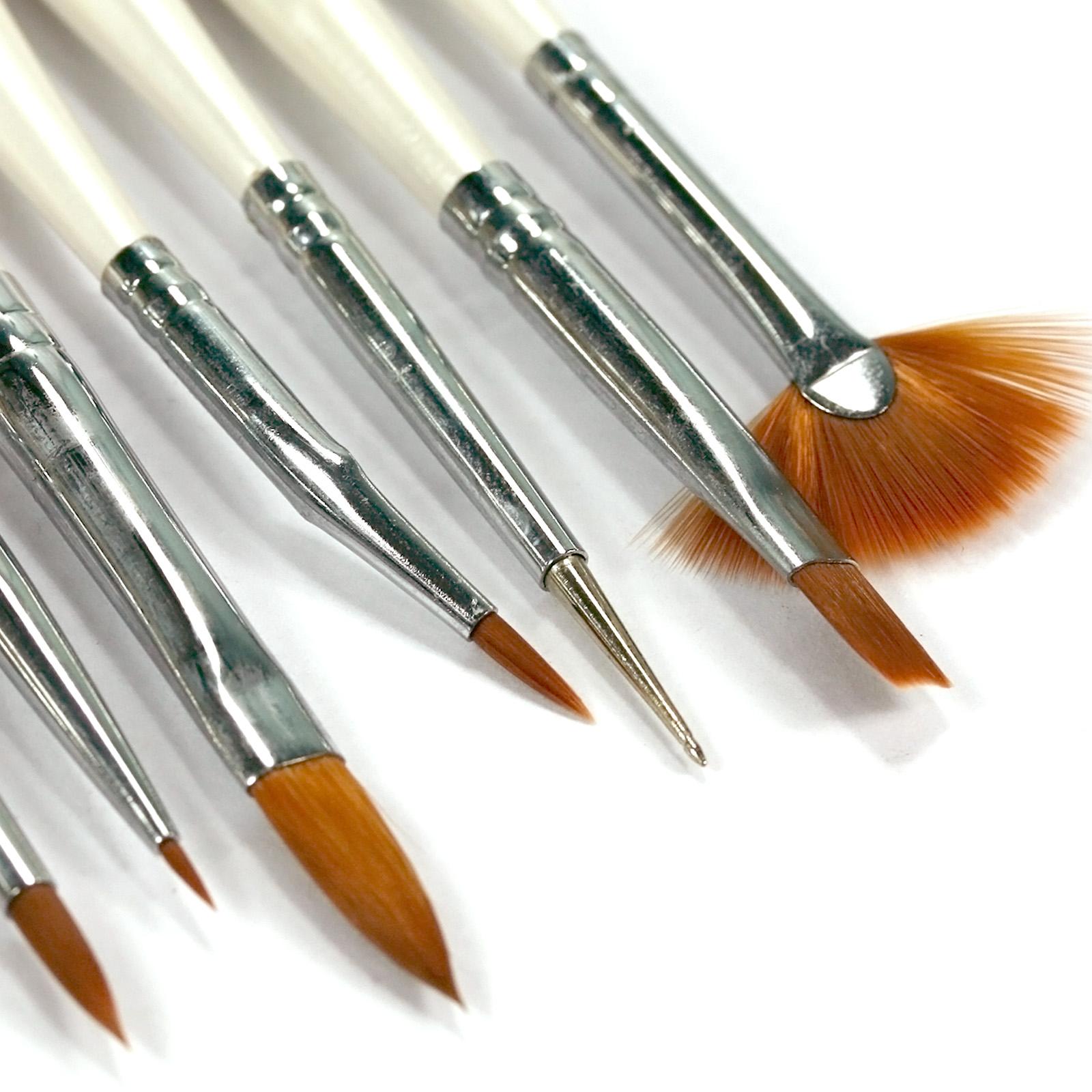 9PCS Nail Art Dotting Pen Gel Nail Polish Painting Brush