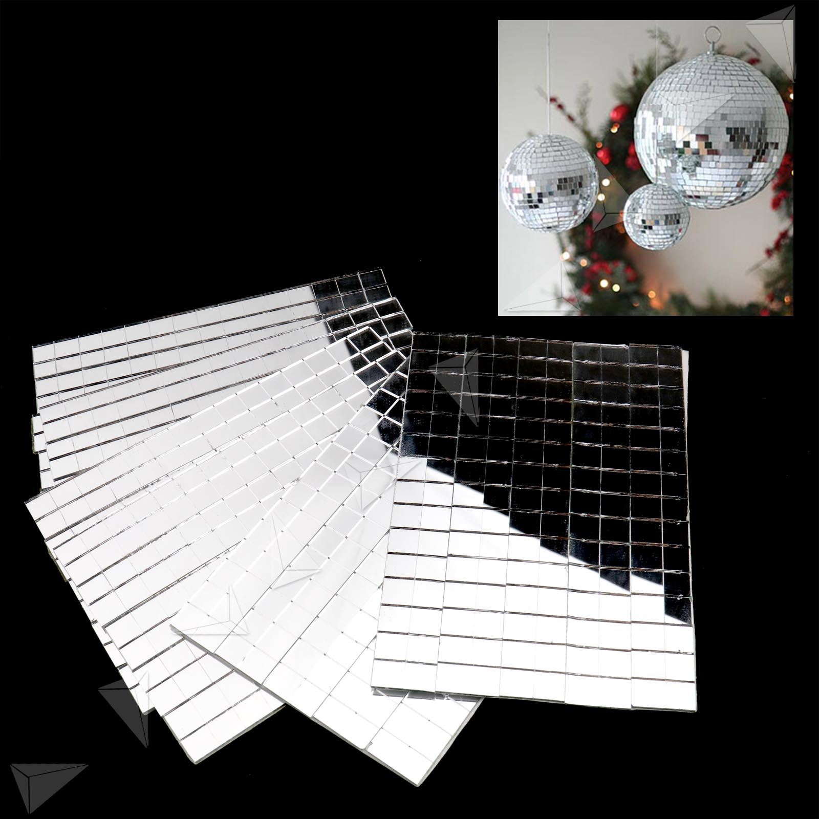 Small Mirror Pieces: 150 X10MM Small Glass Craft Square Mirrors Bulk 6 Pieces