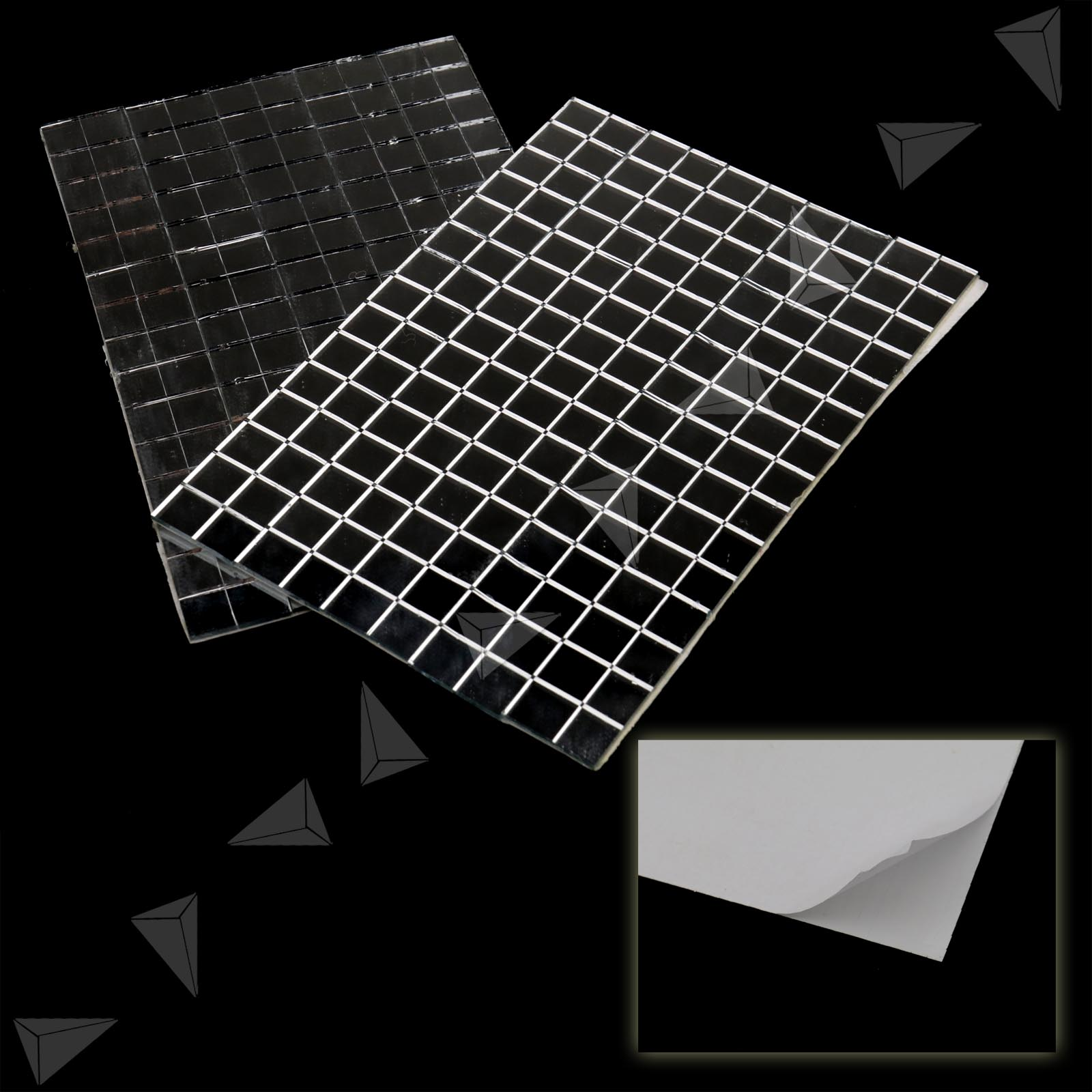 150 x10mm small glass craft square mirrors bulk 6 pieces for Craft mosaic tiles bulk