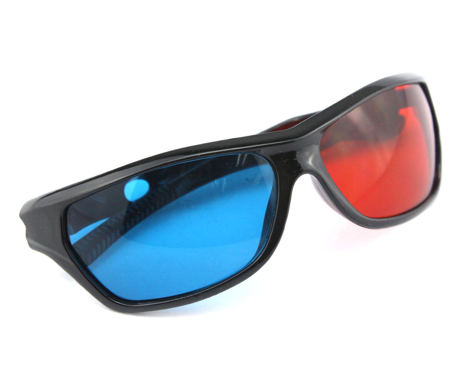 red wayfarer glasses  red/blue anaglyph