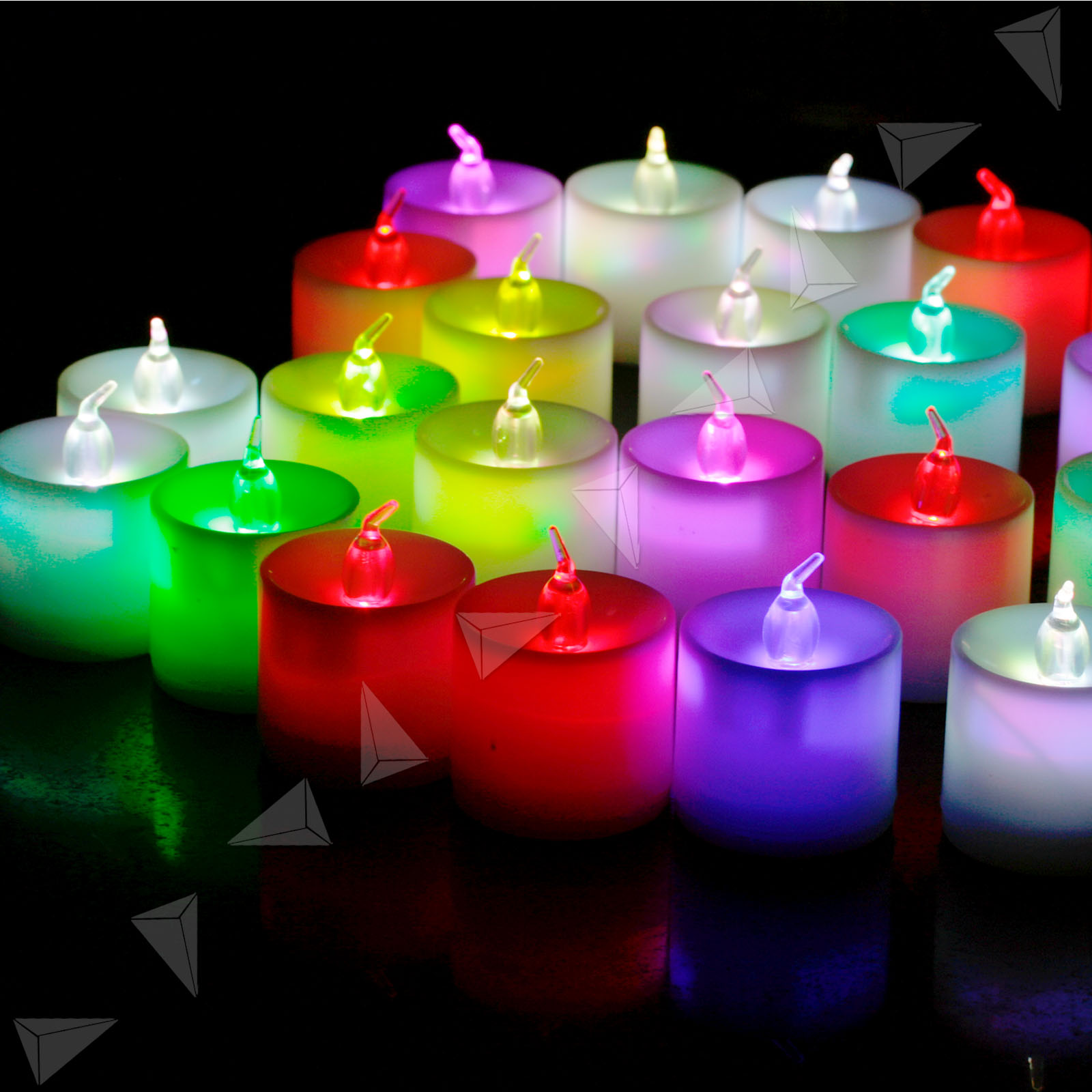 24pcs Led Flameless Flickering Tea Lights Battery Candle