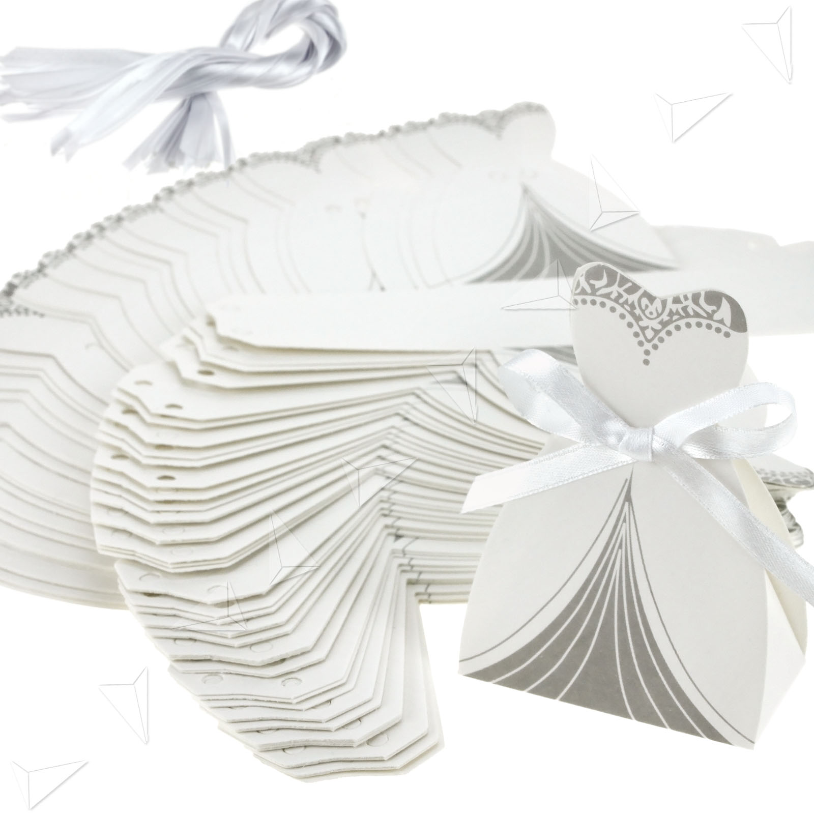 Wedding Dress Favor Boxes Wedding Decor Ideas