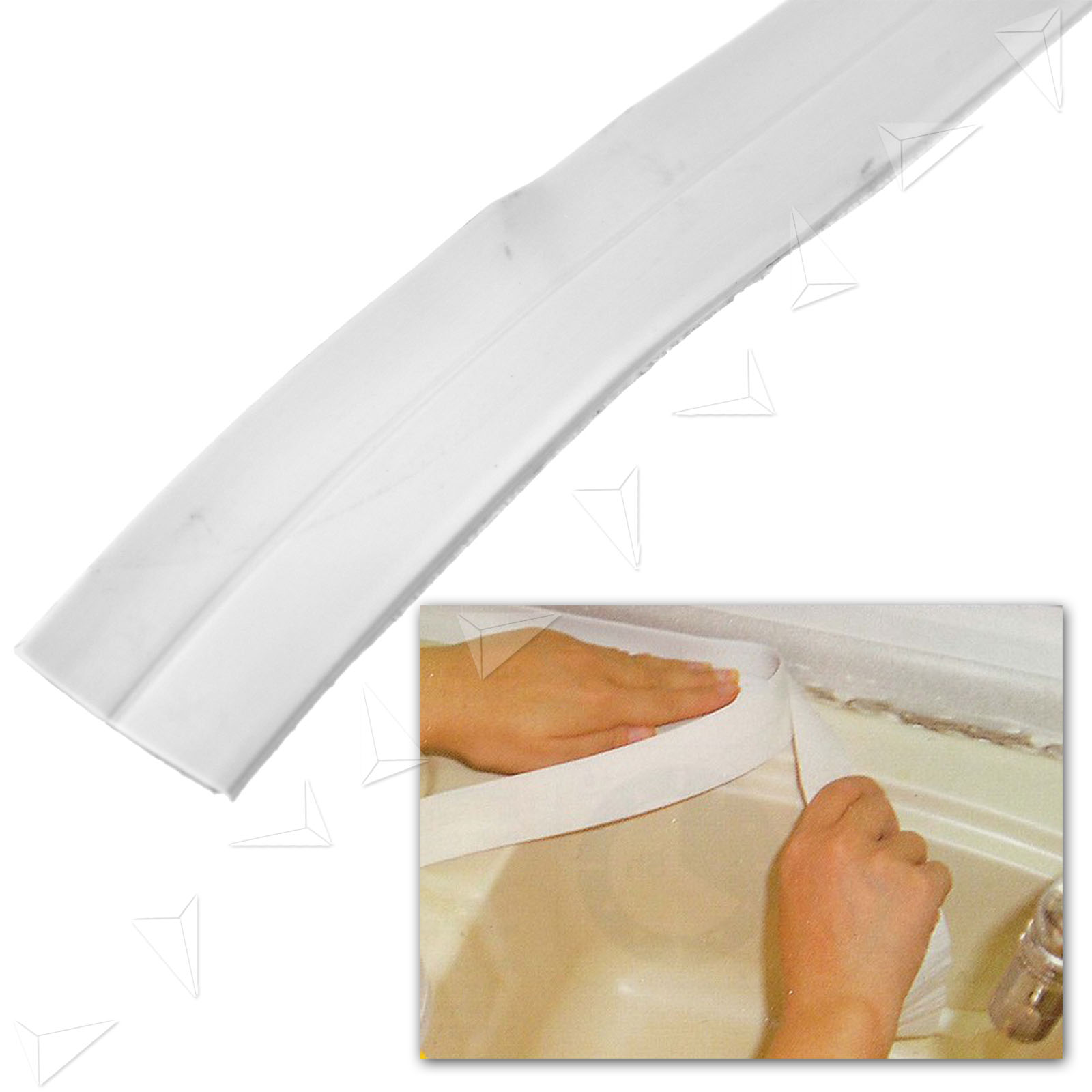 22 38mm x 5m bath and wall sealing strip bath sink basin. Black Bedroom Furniture Sets. Home Design Ideas