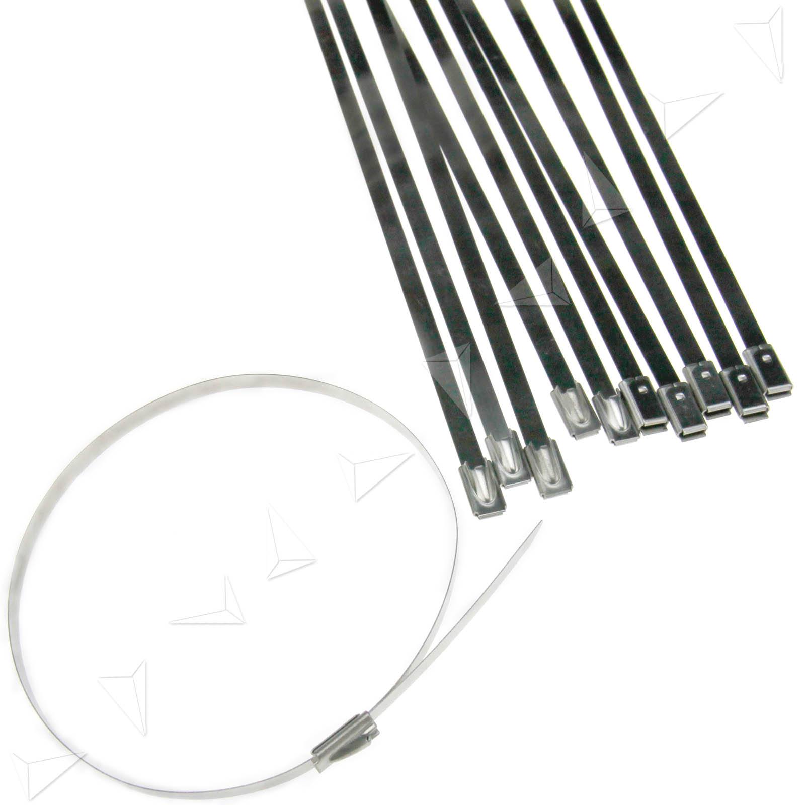 50 X Top Quality Stainless Steel Metal Cable Ties Ebay