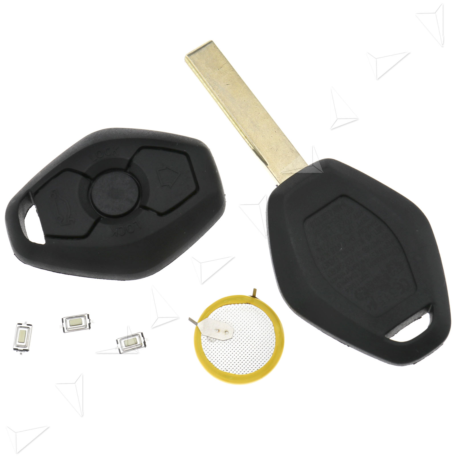 Replacement 3 Button Remote Key Fob + LIR2025 Battery For