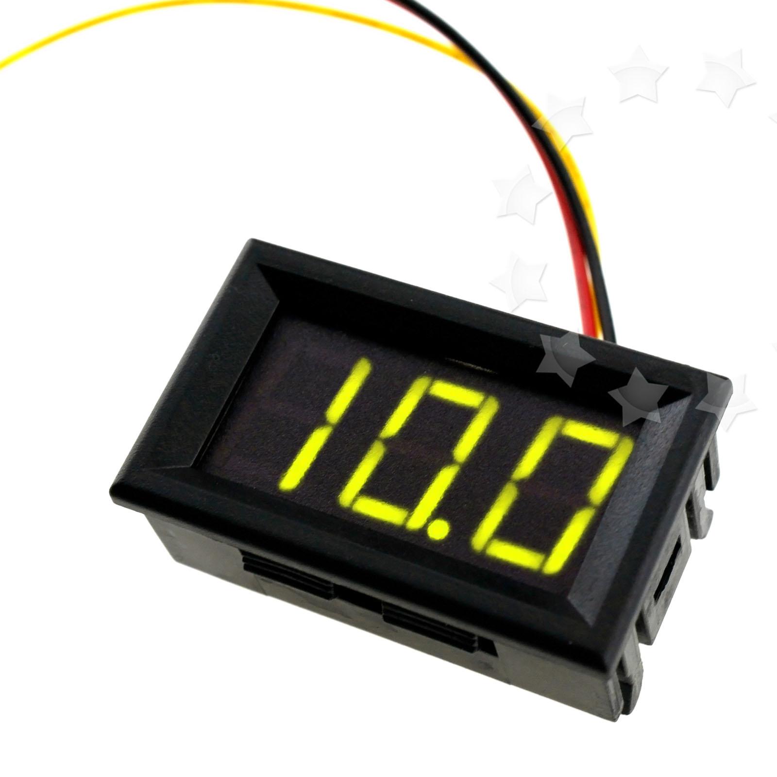 Red Green Digital Led Display Voltage Measurement