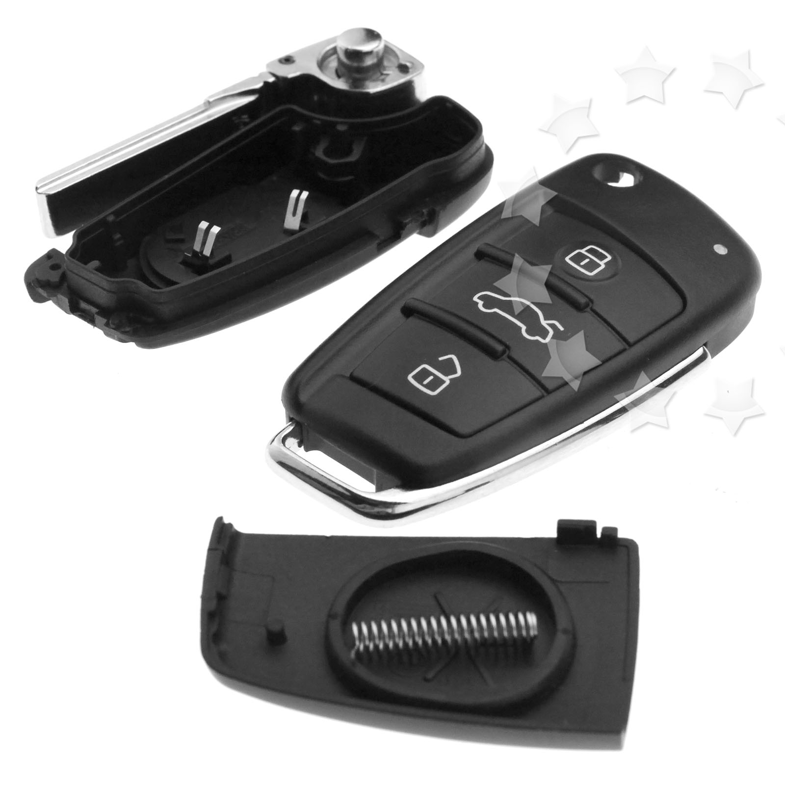 Replacement Of 3 Button Remote Flip Key Fob Case Shell
