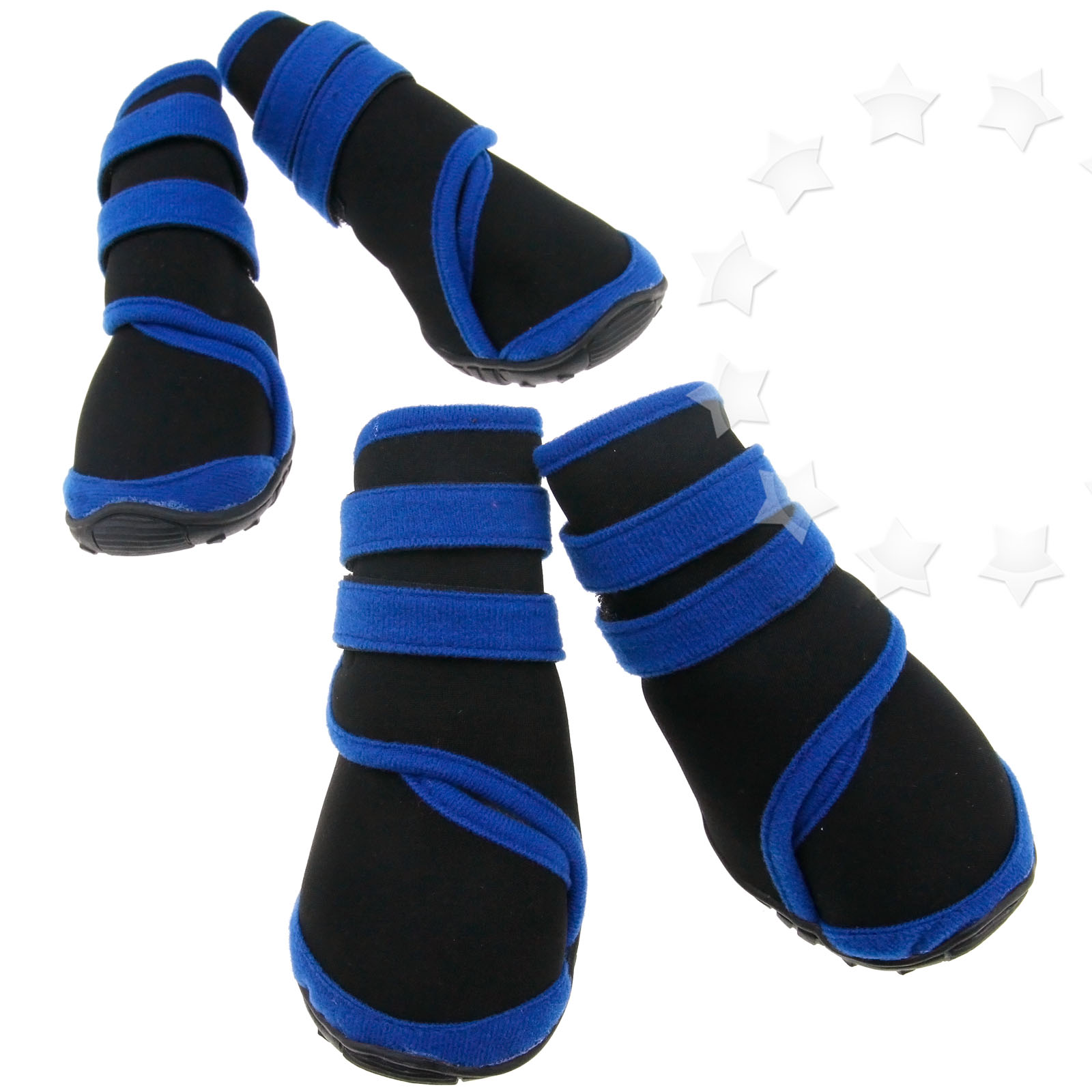 4pcs anti slip protective boots pet black