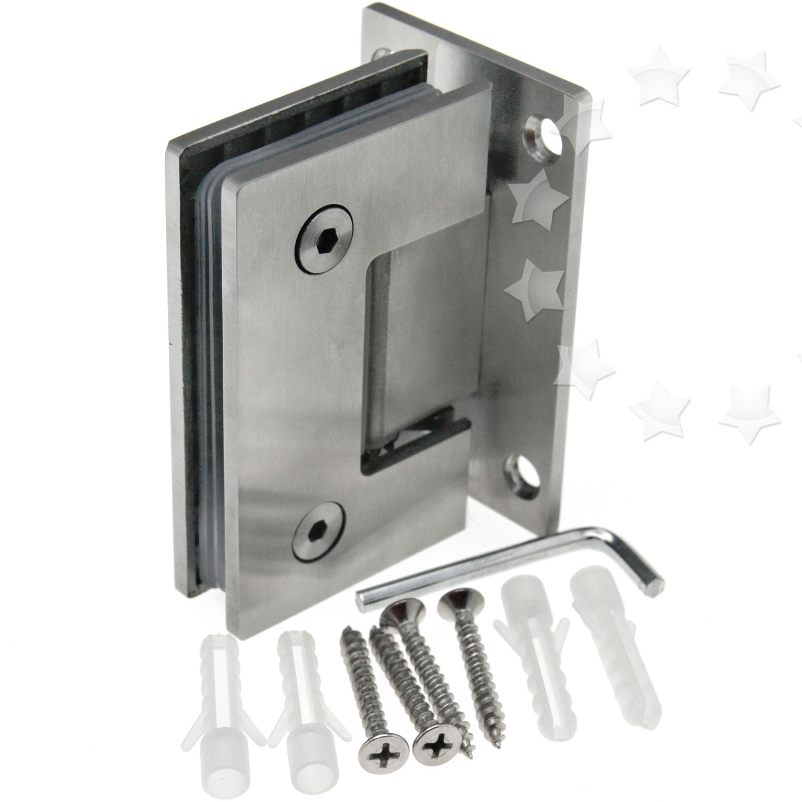 Glass Shower Door Hinges : New bracket frameless wall to glass shower door hinge