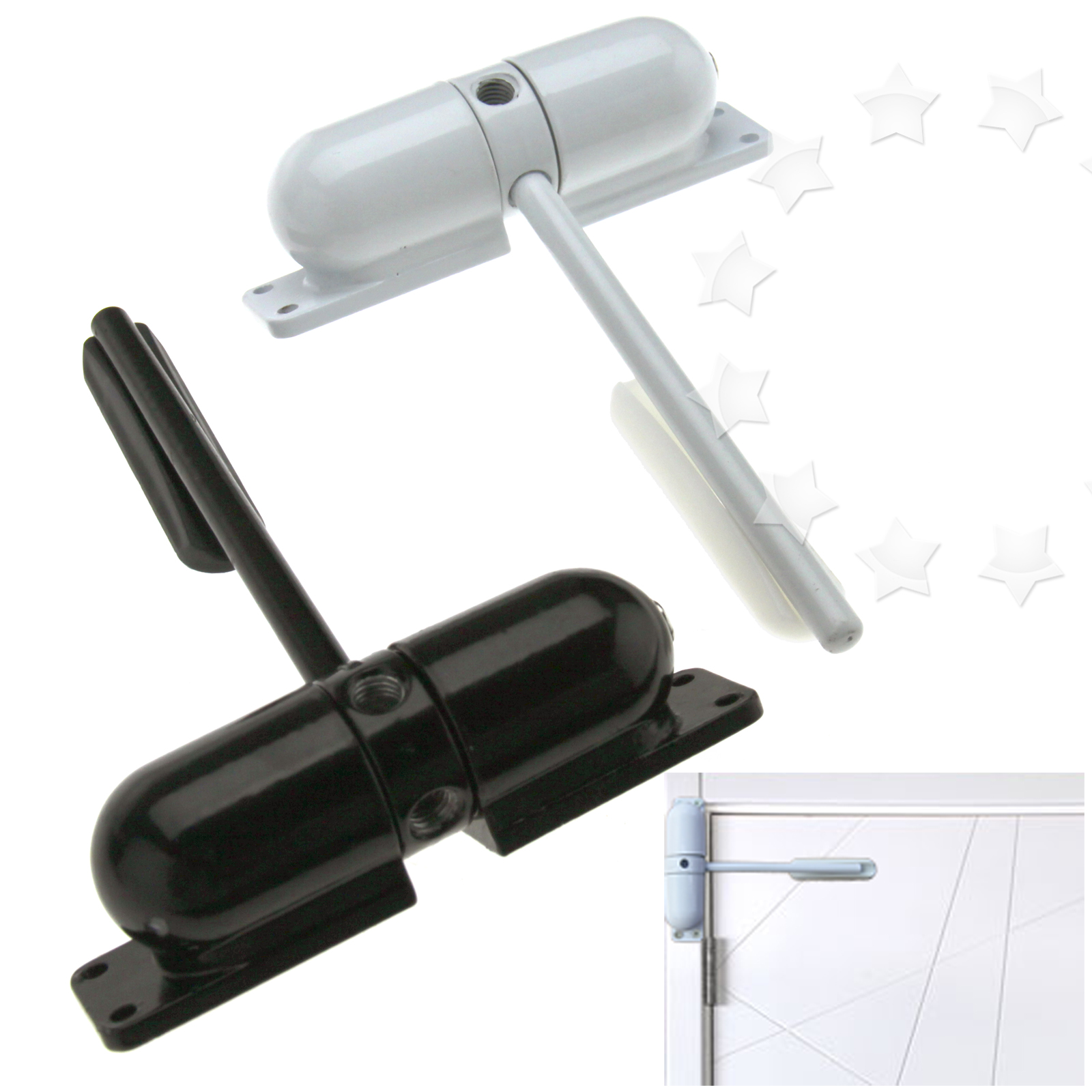 Adjustable Door Closer Fire Rated Spring Loaded Auto