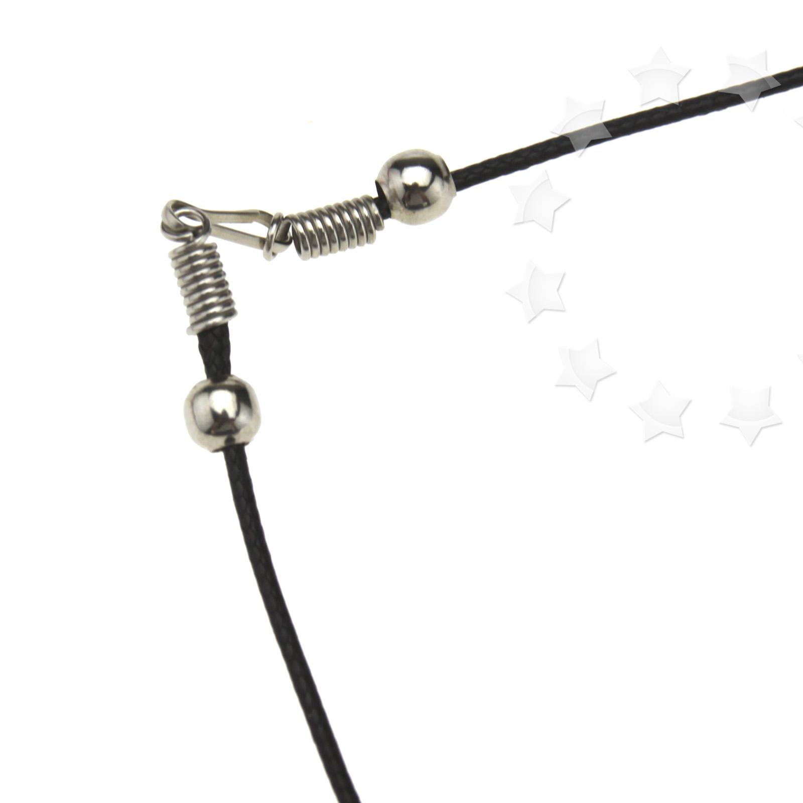 25pc black waxed cotton necklace 1 5mm cords 18 quot wholesale