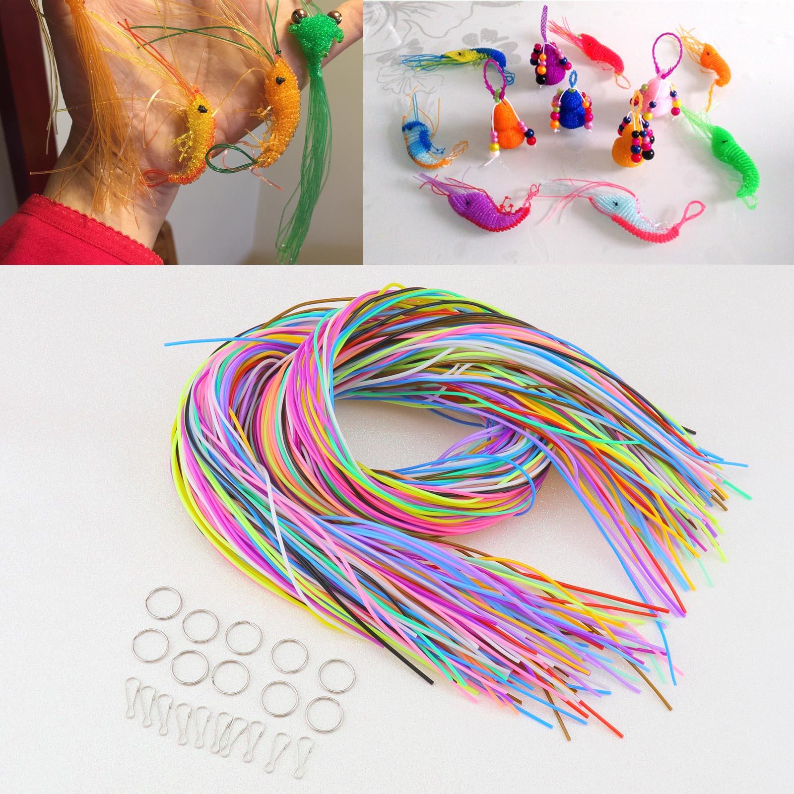 20-farben 200x Kit Regenbogen Farbe Schnur Schnürung Scoubidou String für DIY