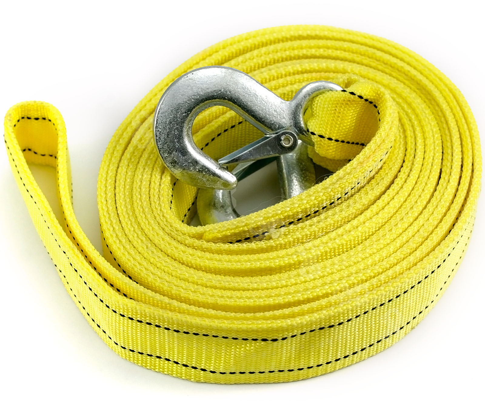 Vehicle Tow Straps : M tow towing pull vehicle rope strap heavy duty garage