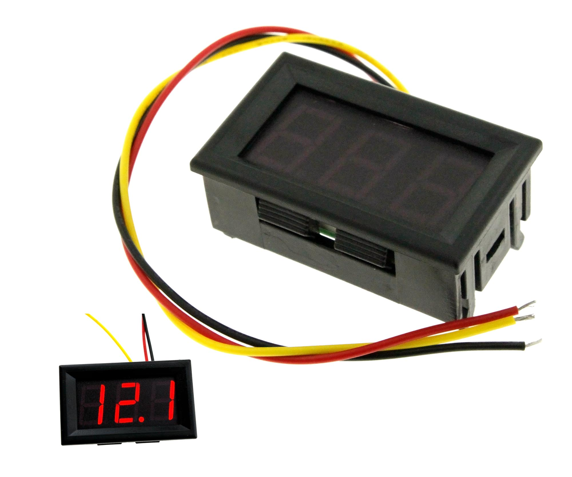 Car Motor Dc 0 99v 3 Wire Red Led Digital Display Volt