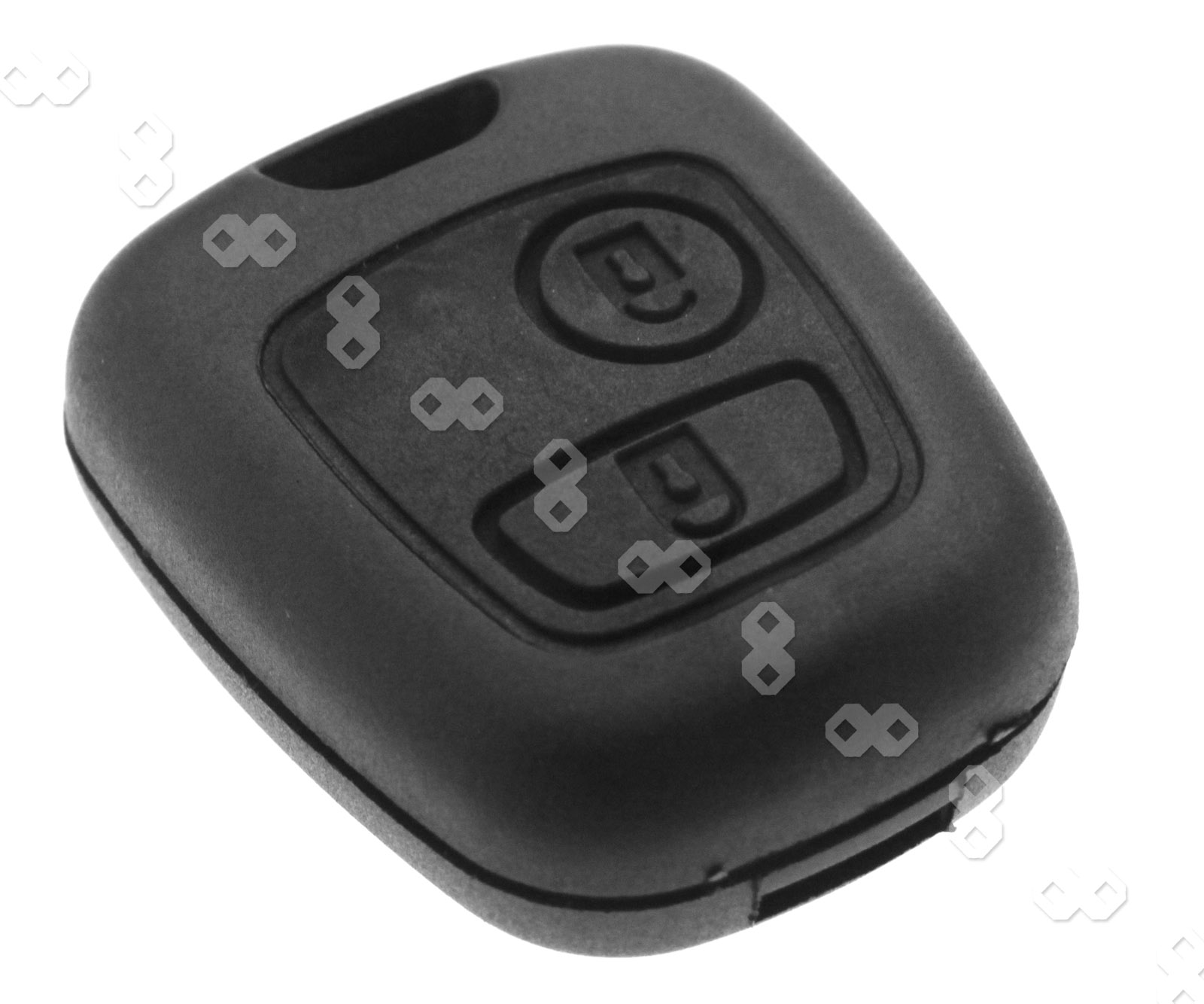 2 button remote key fob case shell cover peugeot 107 207 307 407 106 206 306 406 ebay. Black Bedroom Furniture Sets. Home Design Ideas
