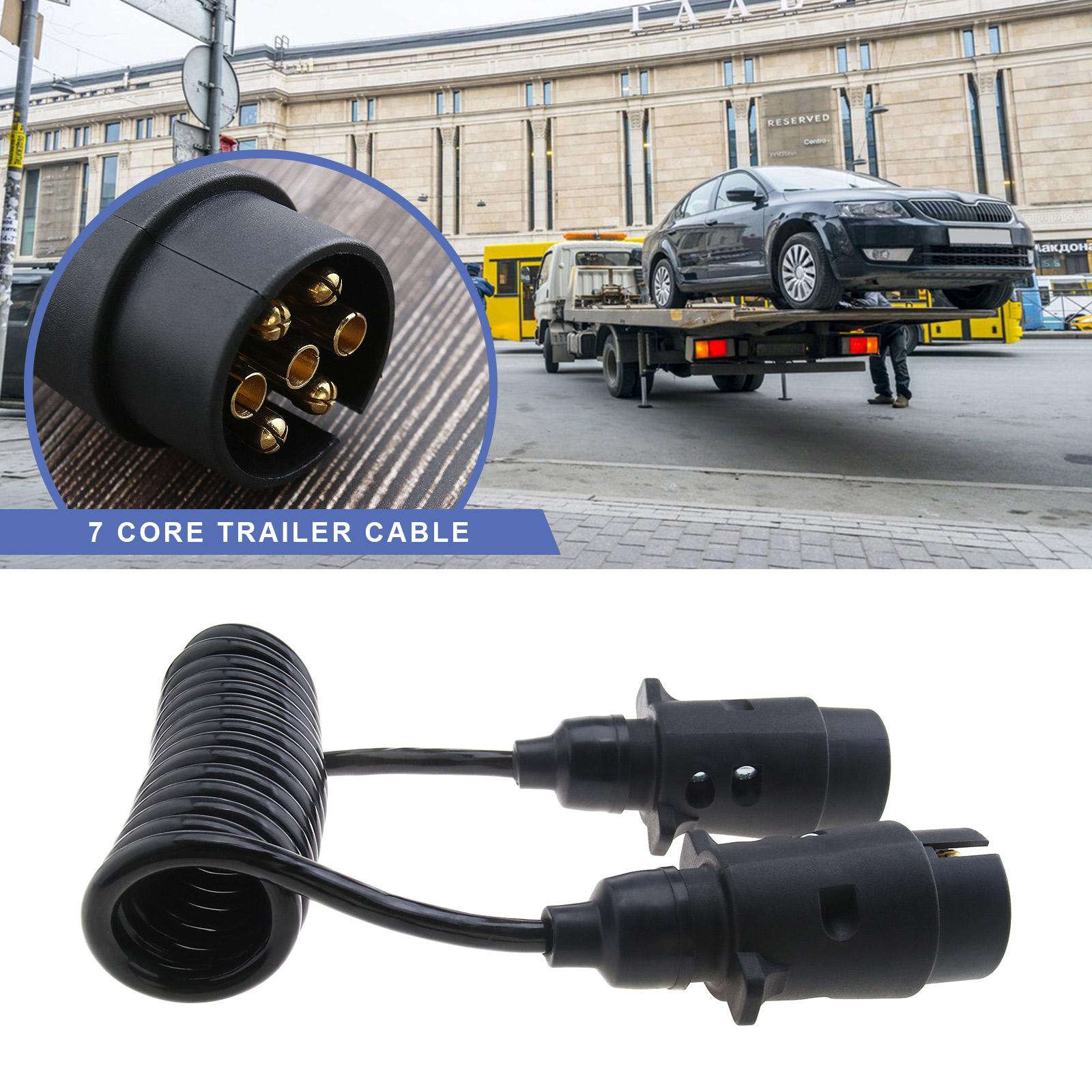 7 Pin Trailer Extension : Trailer board light extension lead m plug socket suzie