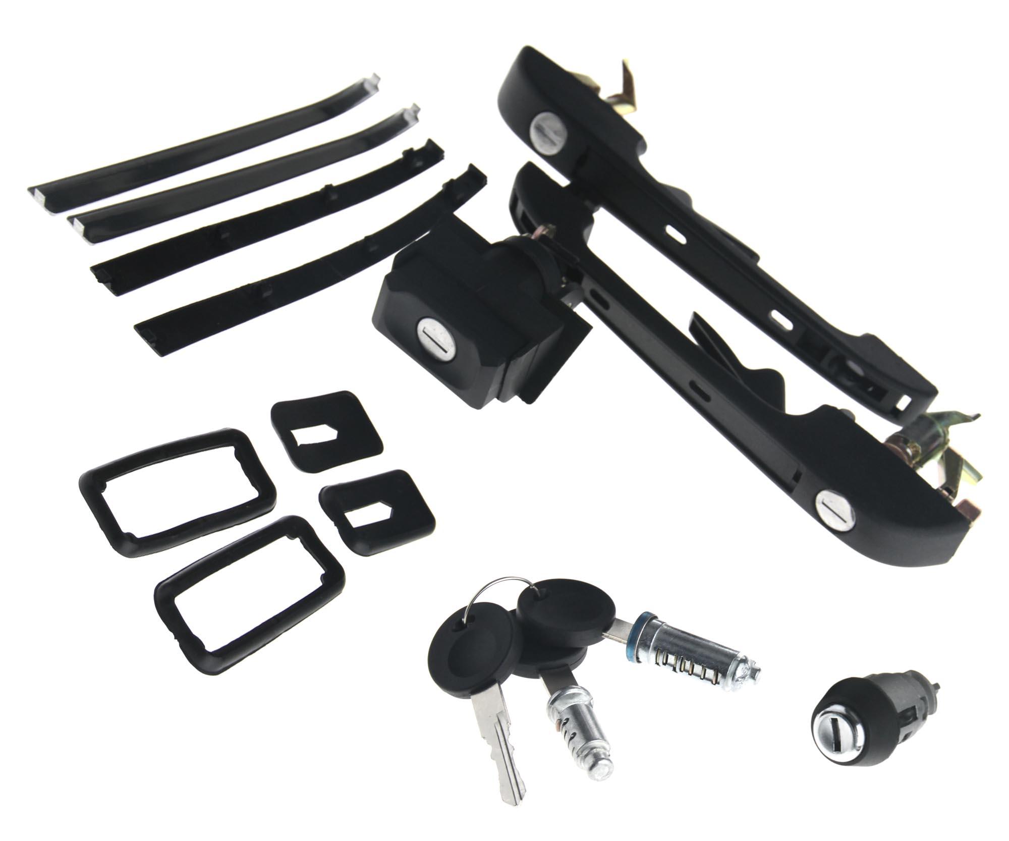 Car Lock Kit Tailgate Front Door Handle Ingiton With 3