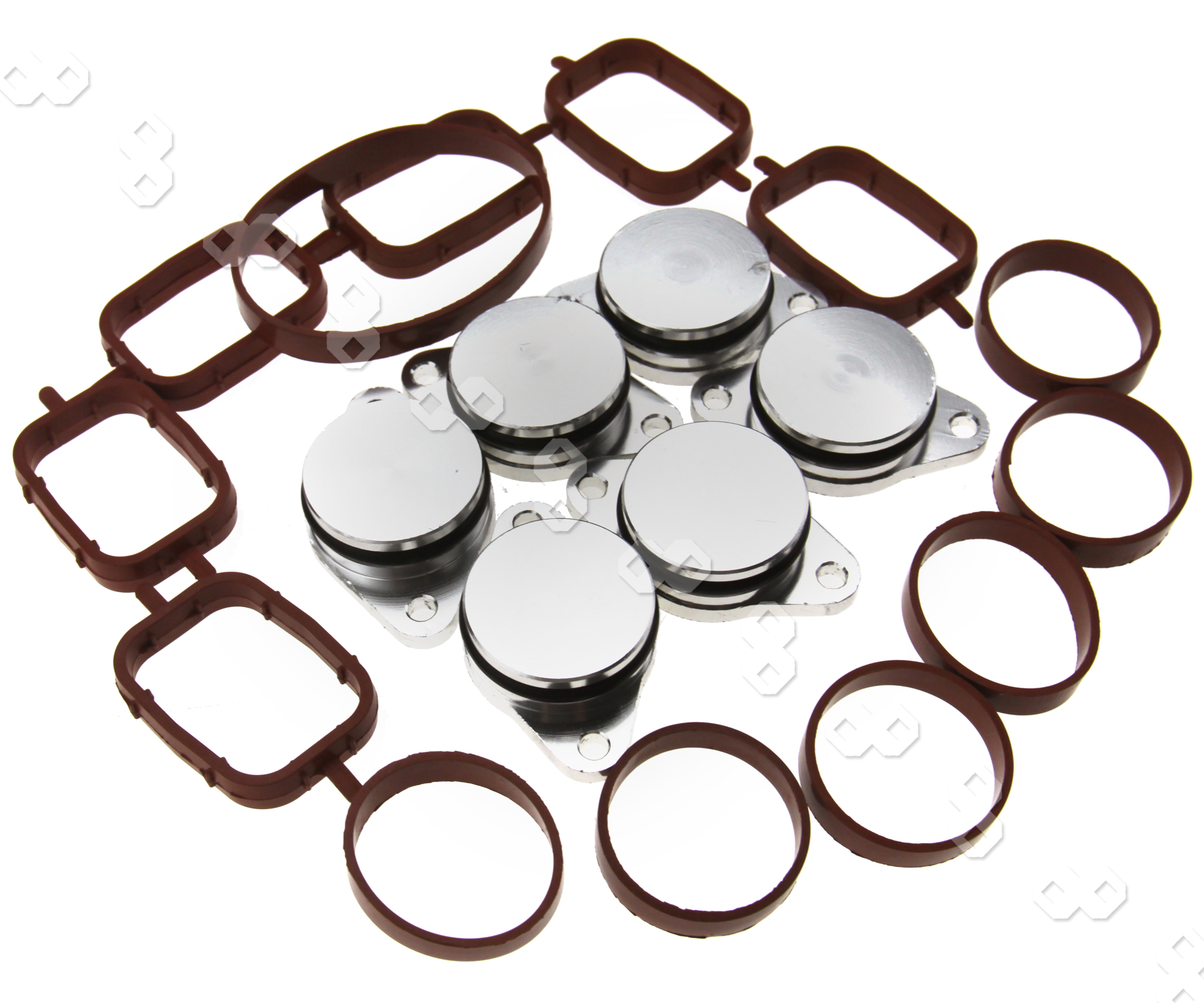 6 X 32mm Swirl Flap Blanking Kit With ManIfold Gasket For