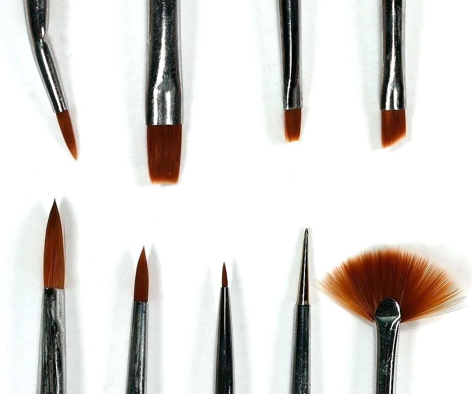 9 x nail art design brush set uv gel dotting painting pen for Avon nail decoration brush