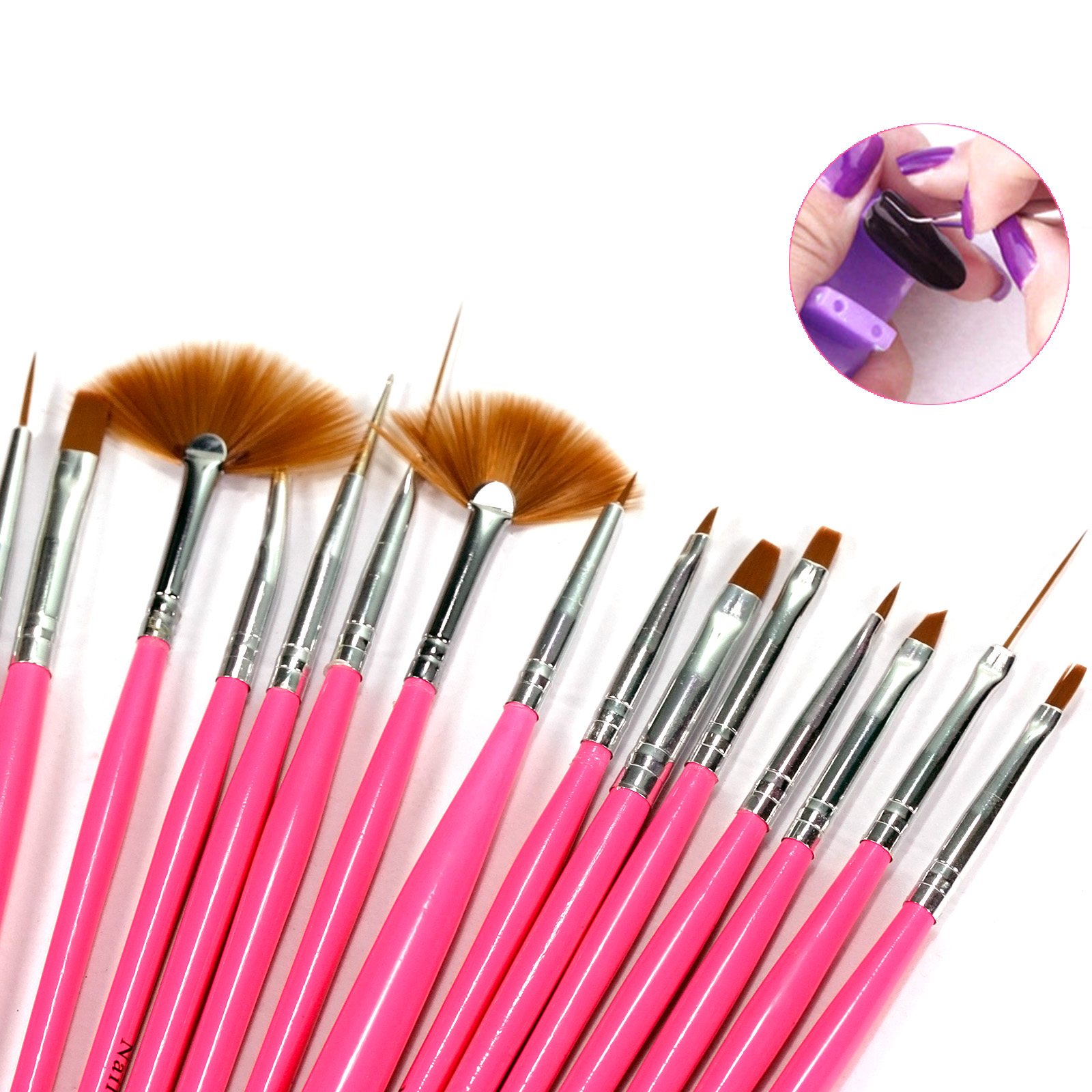 15 pcs nail art tips design decoration painting drawing for Avon nail decoration brush