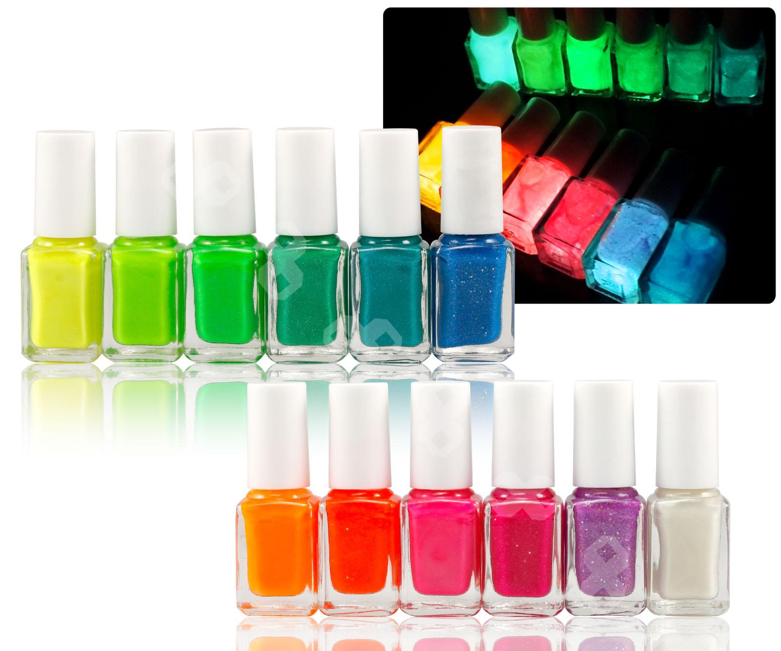 Fluorescent Neon Nail Polish: 12 Colors 7ml Fluorescent Neon Nail Art Polish Glow In