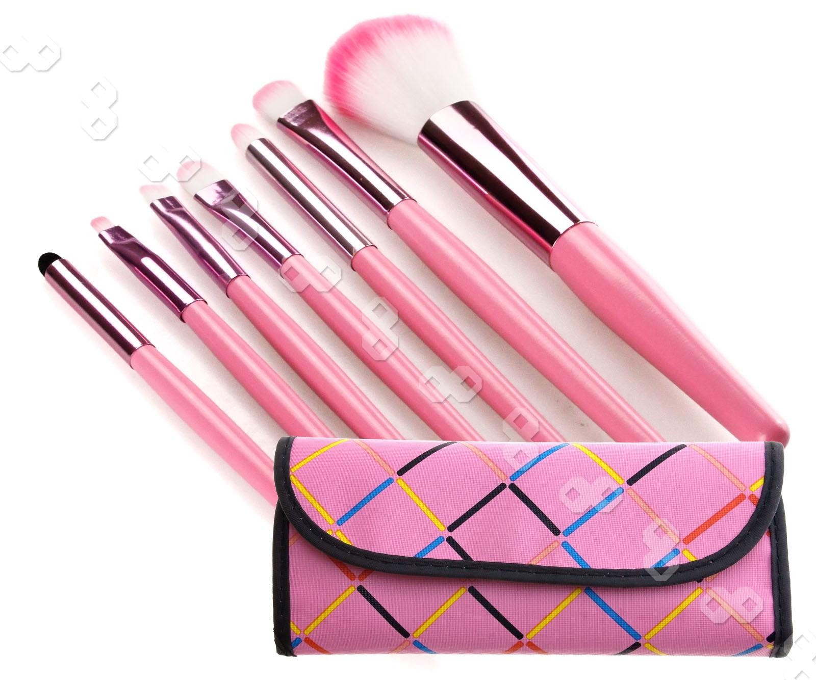 7Pcs Professional Pink Make up Brush Makeup Kit