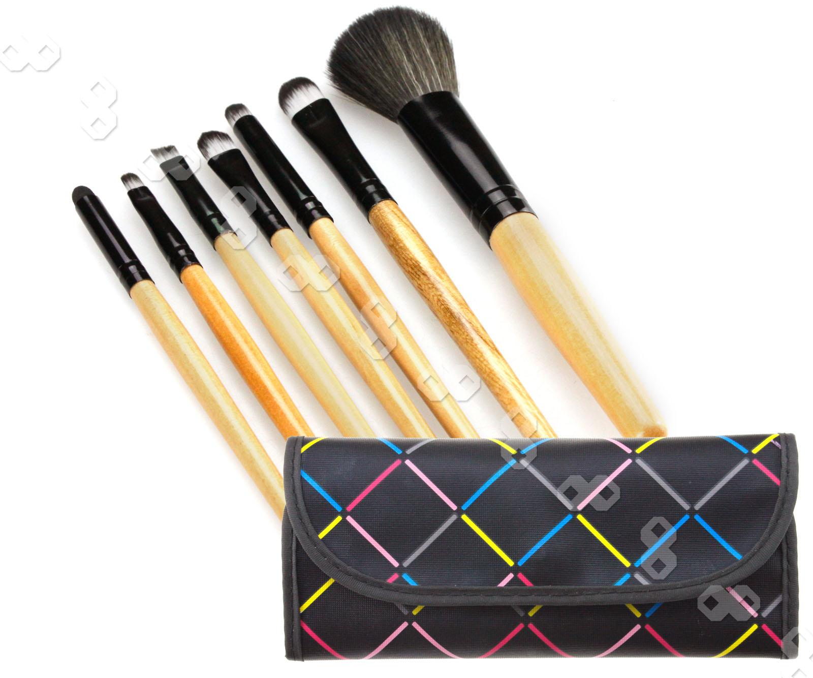7Pcs Professional Black Make up Brush Makeup Kit