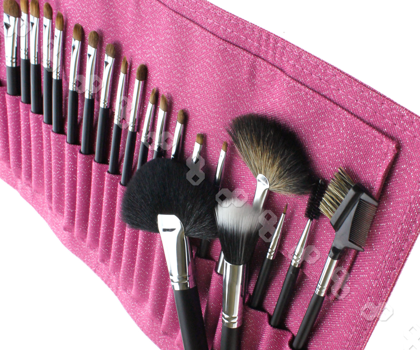 26pcs Cosmetic MakeUp Brush kit with blossom bag Goat ...