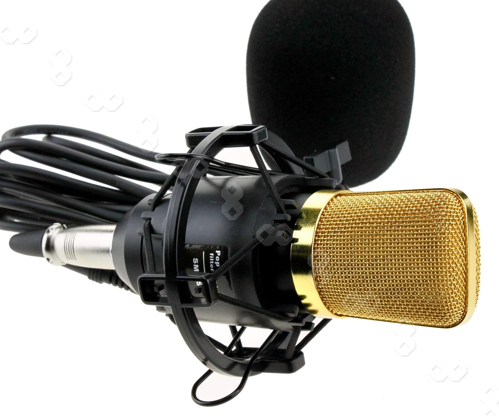 microphone sound studio condenser dynamic mic large diaphragm cardioid w mount ebay. Black Bedroom Furniture Sets. Home Design Ideas