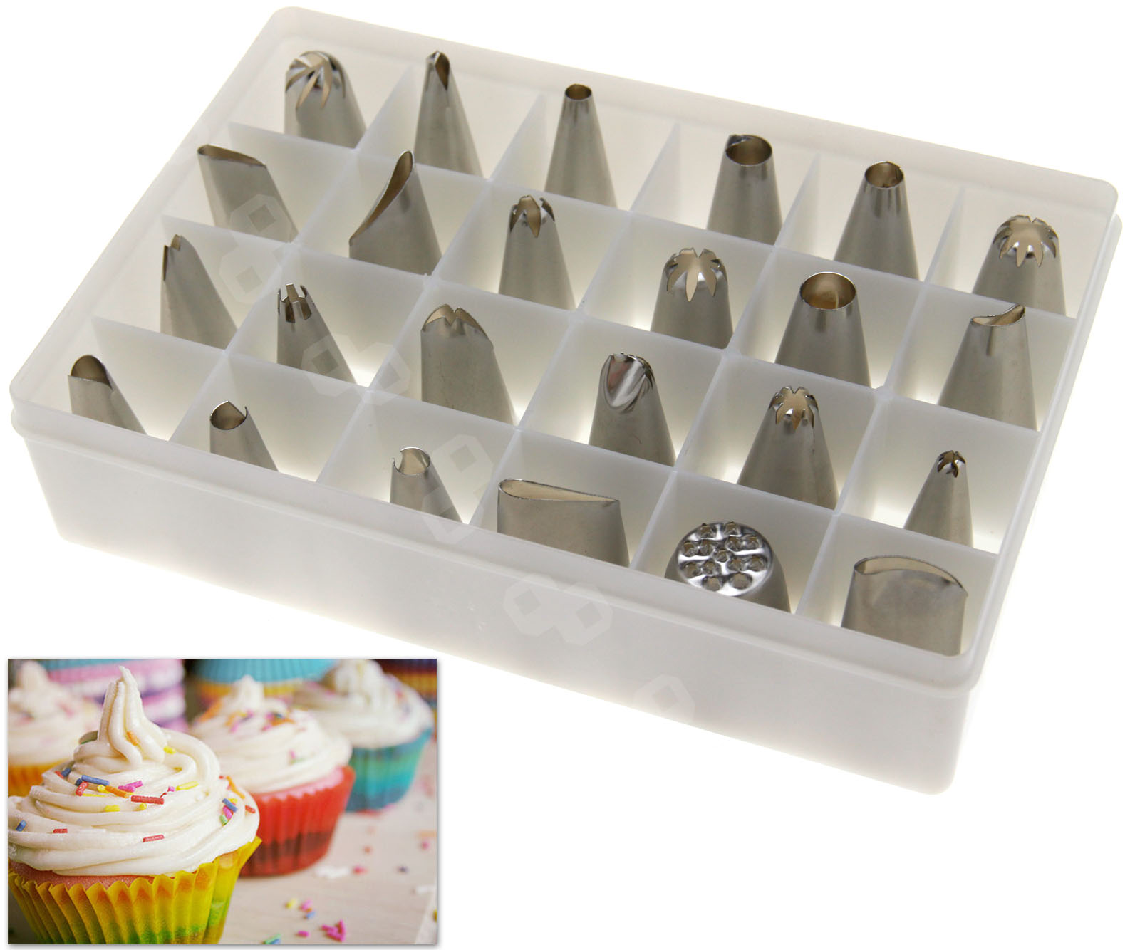 24pcs Pastry Cake Decorating Nozzles Tips Set Kit for Icing Piping Bag Tool Pen eBay