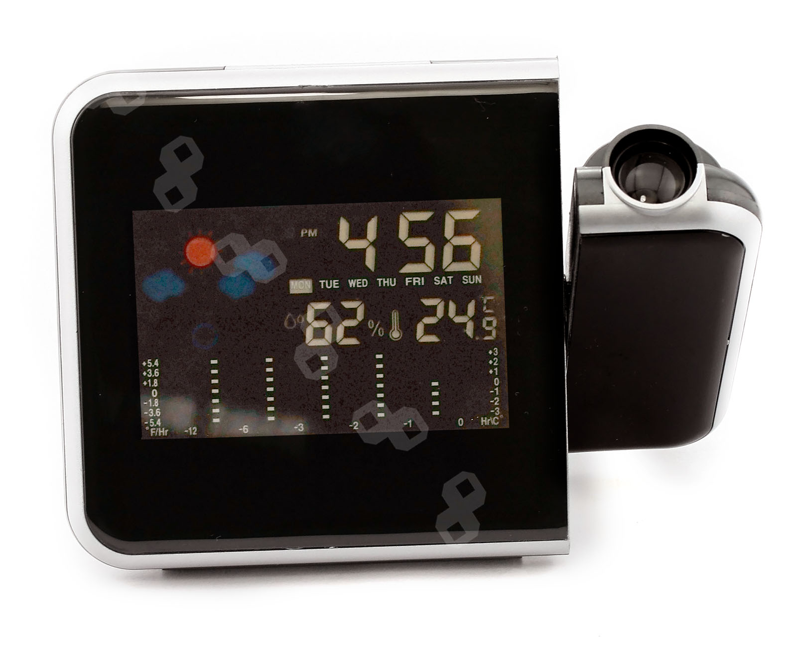 projection alarm clock with temperature Free 2-day shipping on qualified orders over $35 buy la crosse technology projection 5 color lcd alarm clock with temperature, black at walmartcom.