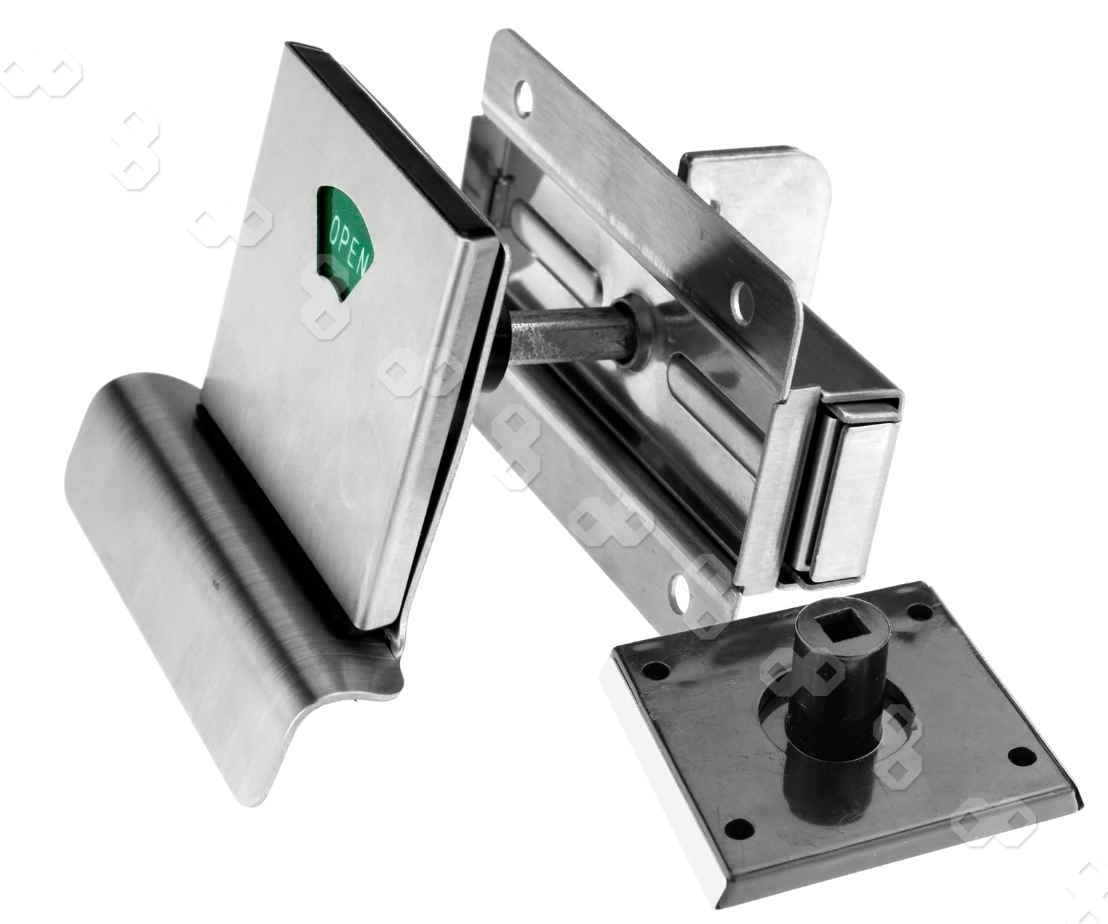 . Indicator Bolt with Vacant Engaged Bathroom Toilet Door Lock