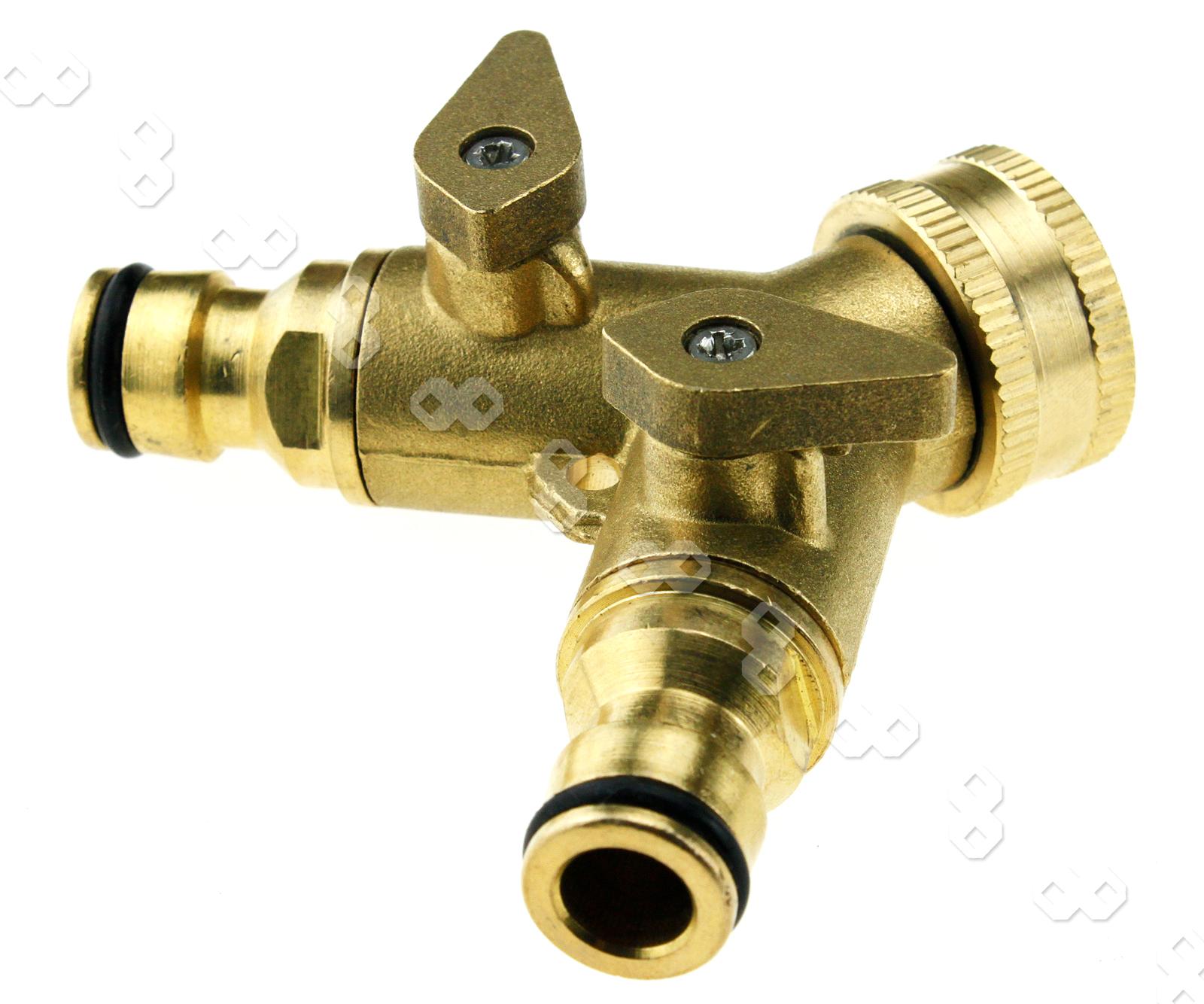 Outdoor quot way double garden tap hose adapter connector
