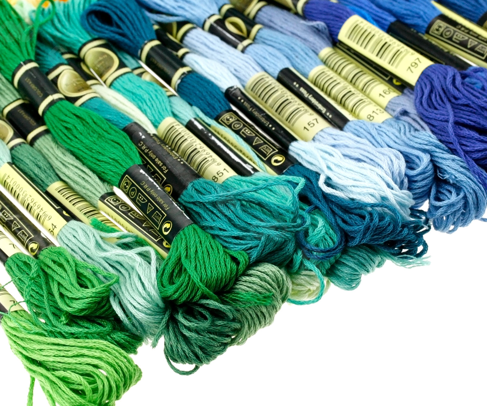 Mixed cross stitch cotton sewing embroidery thread