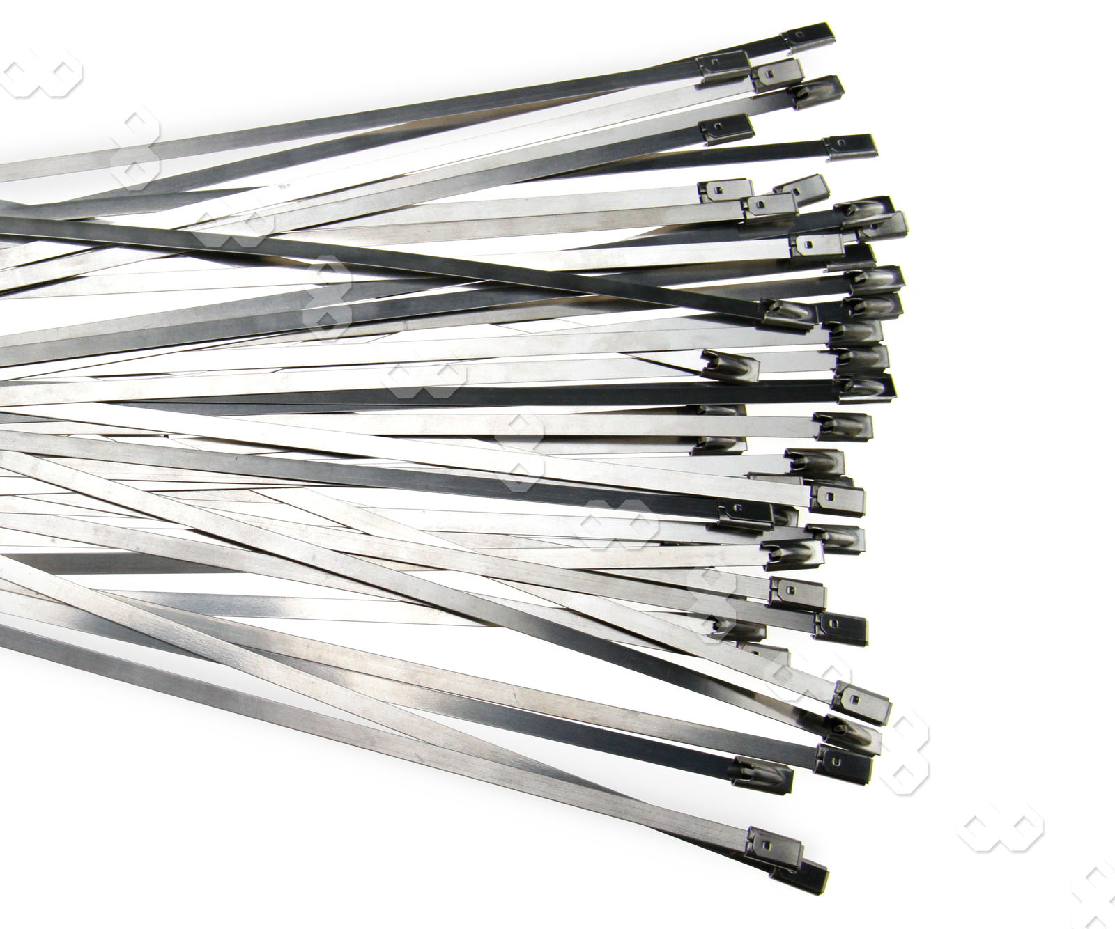 50pcs top quality stainless steel metal cable ties self