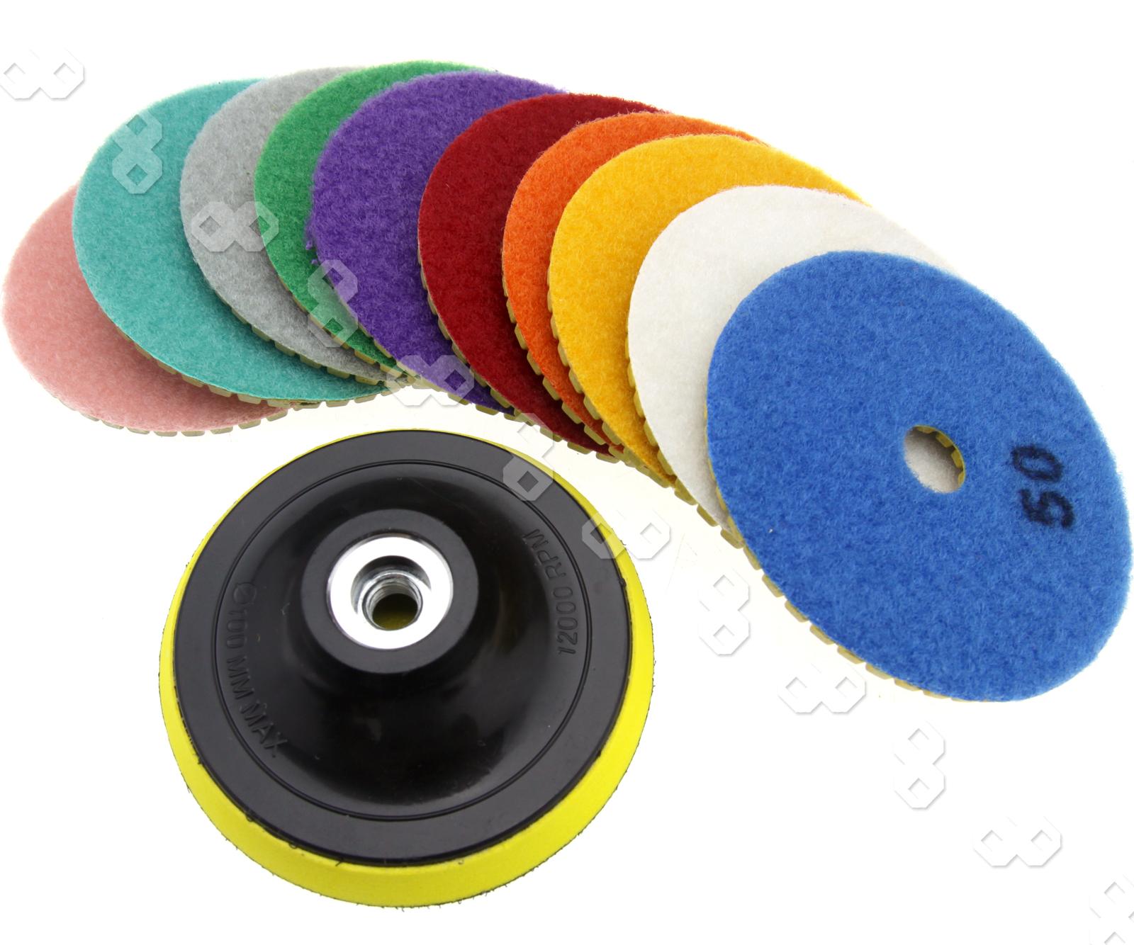 11 X 4 Quot Diamond Polishing Pads Grinding Disc For Granite