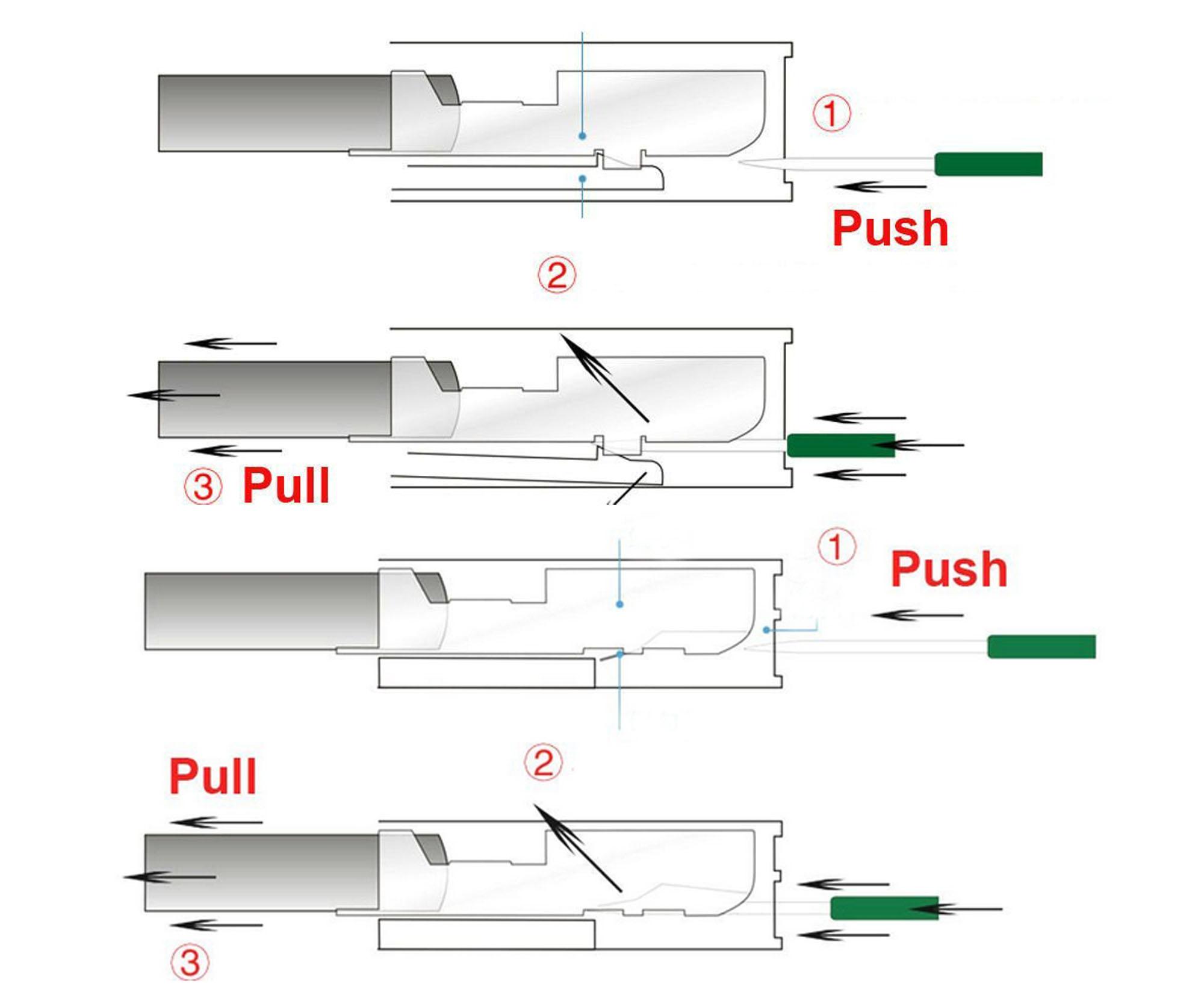 diy 5 pcs autos wire terminal socket pin removal dismount