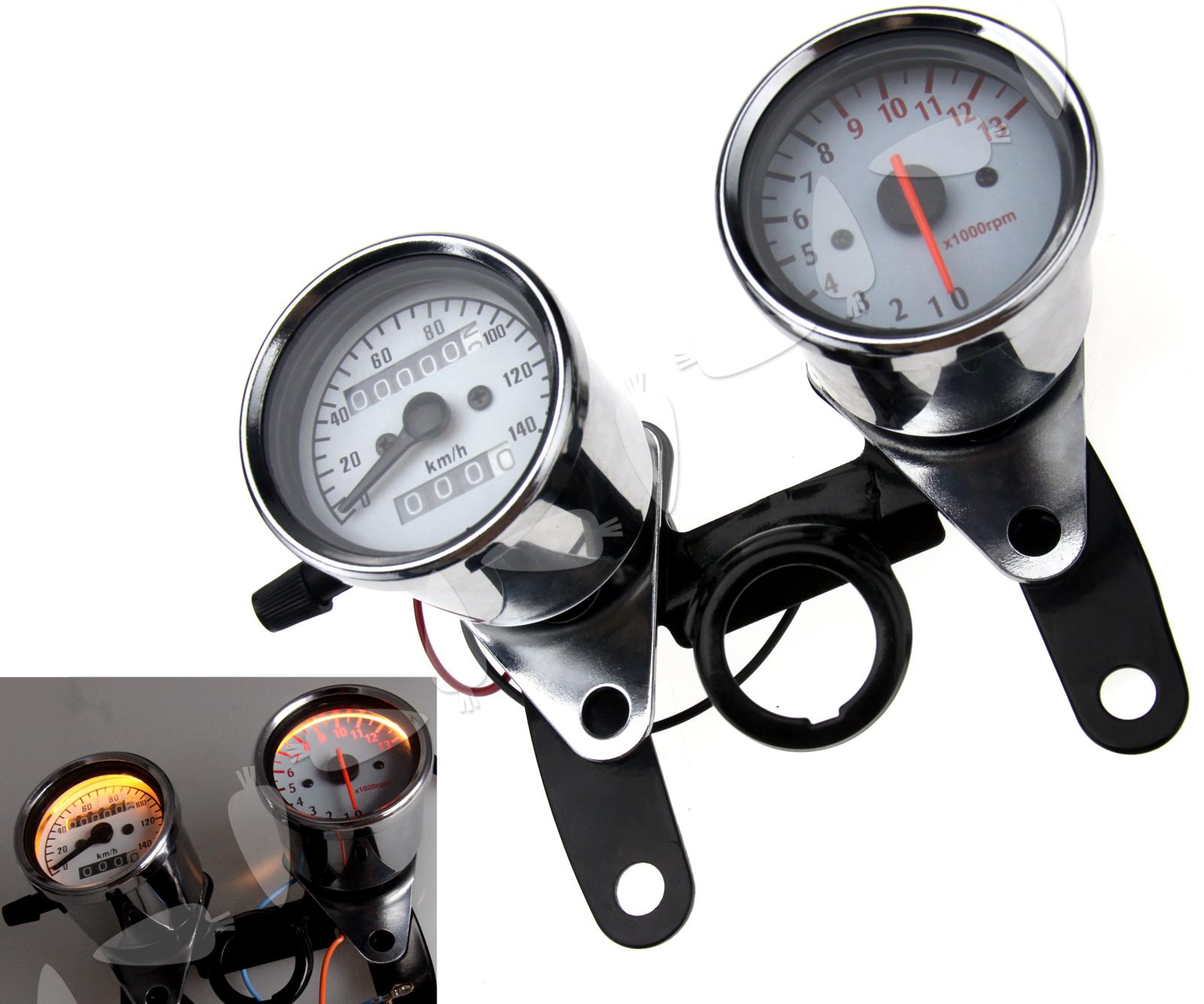 12v Led Universal Motorcycle Odometer Tachometer