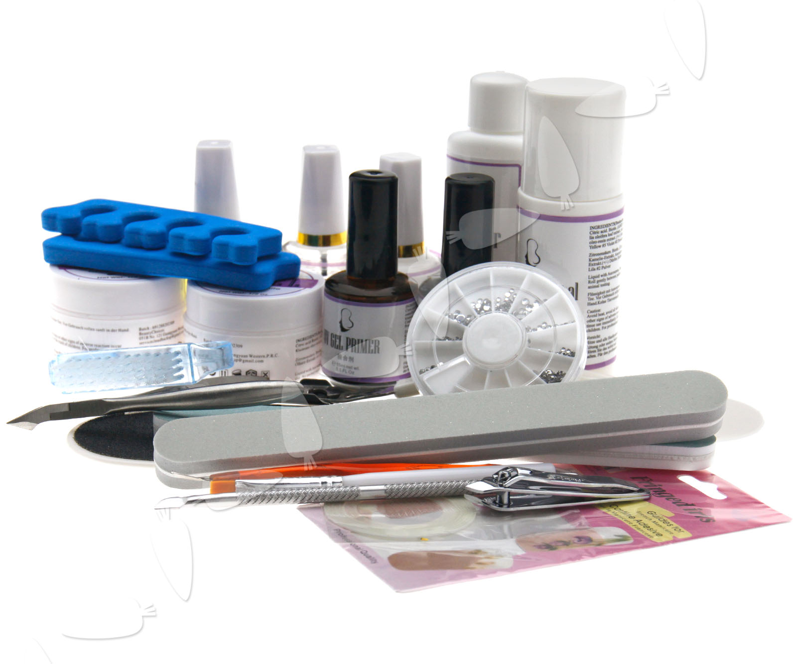 Professional Hand / Toe Manicure UV Gel Nail Art French Nail Practice Tool Kit | eBay