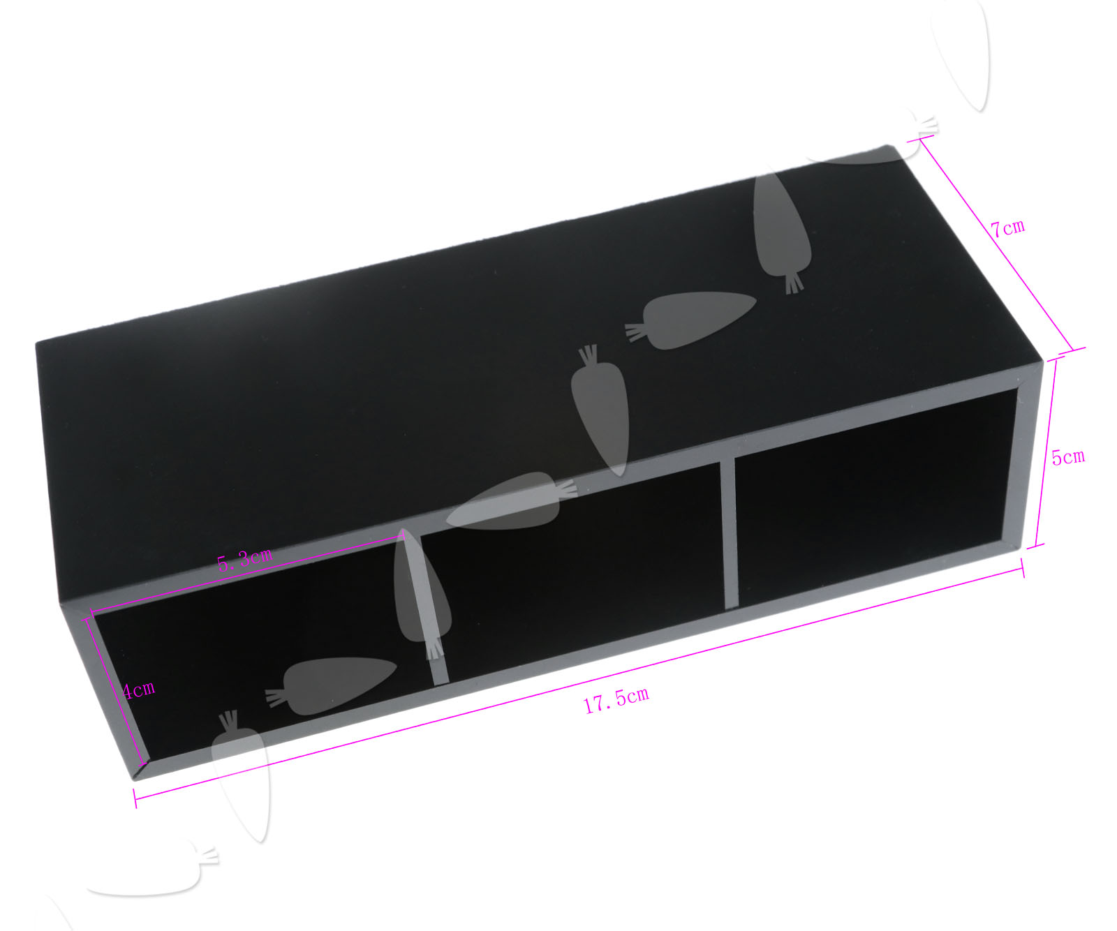 Black acrylic 3 section drawers cosmetic makeup display for Beauty table organiser