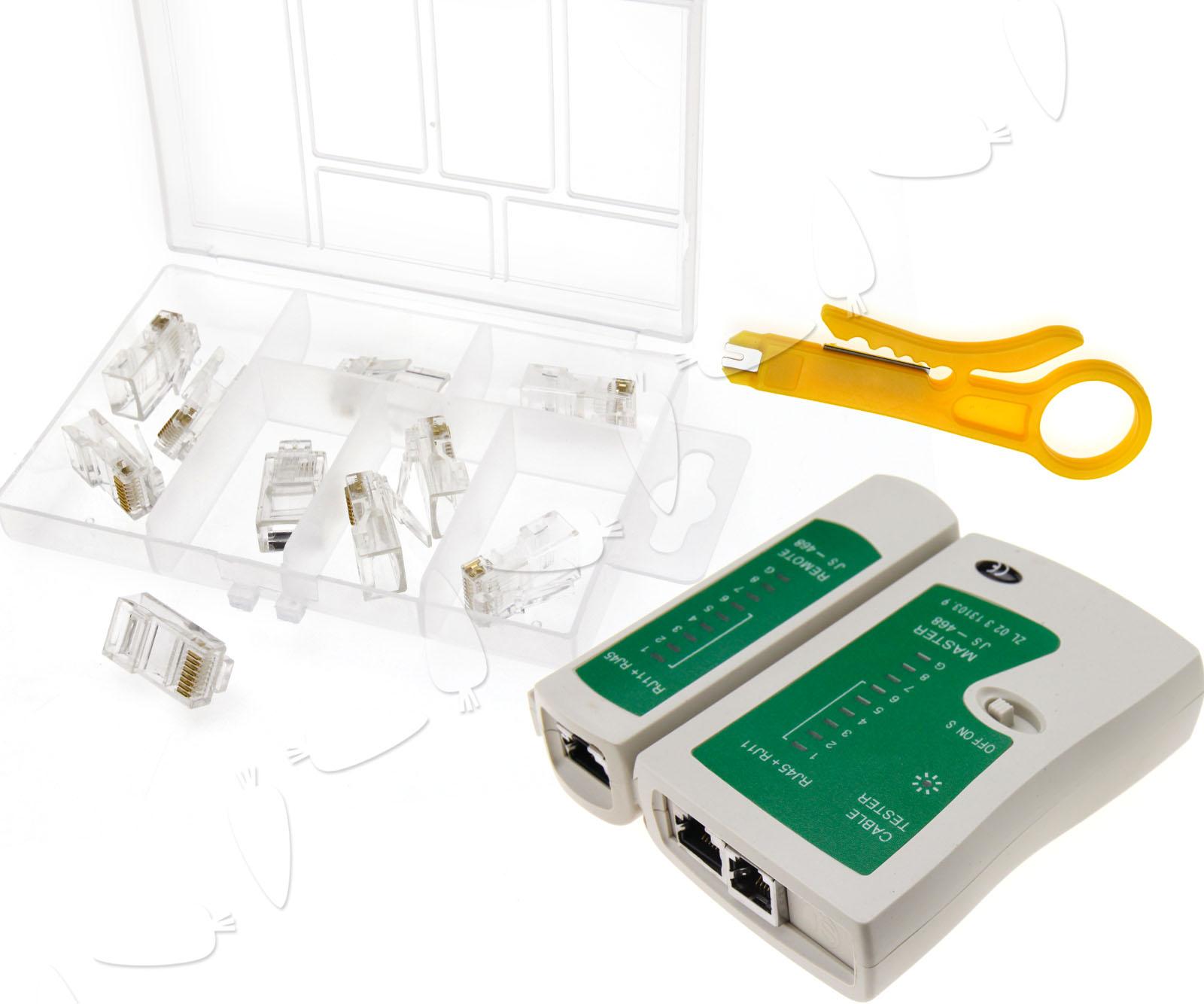 rj45 rj11 cable hand tool crimper network tool kit screwdriver ebay. Black Bedroom Furniture Sets. Home Design Ideas