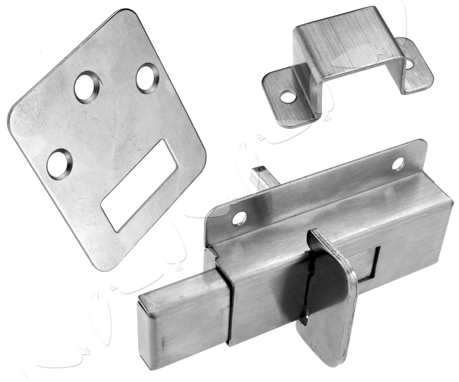 Toilet Door Lock Bathroom Door Lock Vacant Engaged Indicator Lock Satin New Ebay