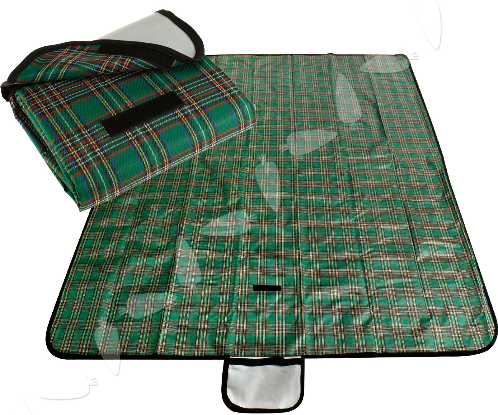 Outdoor green blue large 57x76 waterproof picnic blanket for Au maison picnic blanket