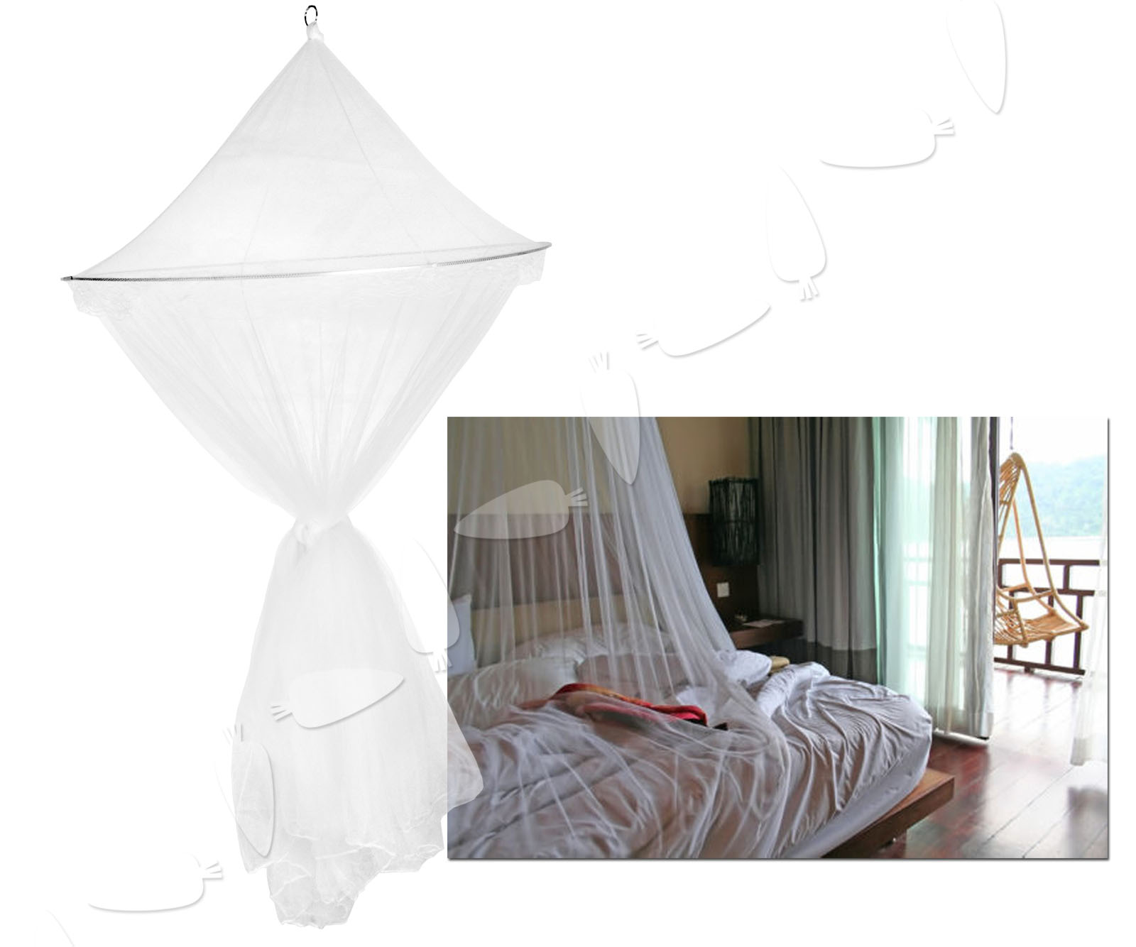 New Fly Midge Insect Stopping Mosquito Bug Net Dome Single