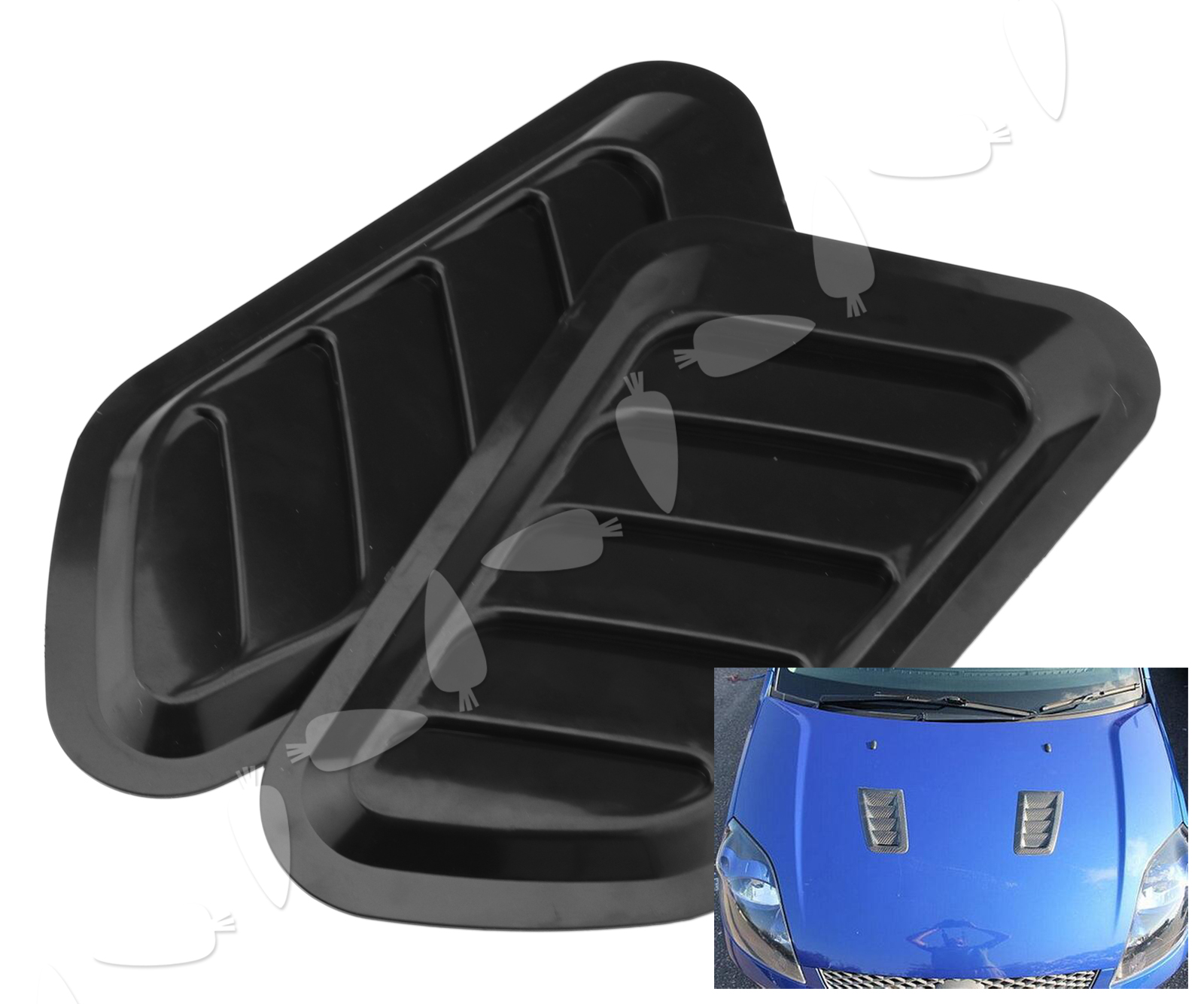 Air Scoops For Cars : Pc universal car decorative air flow intake scoop bonnet
