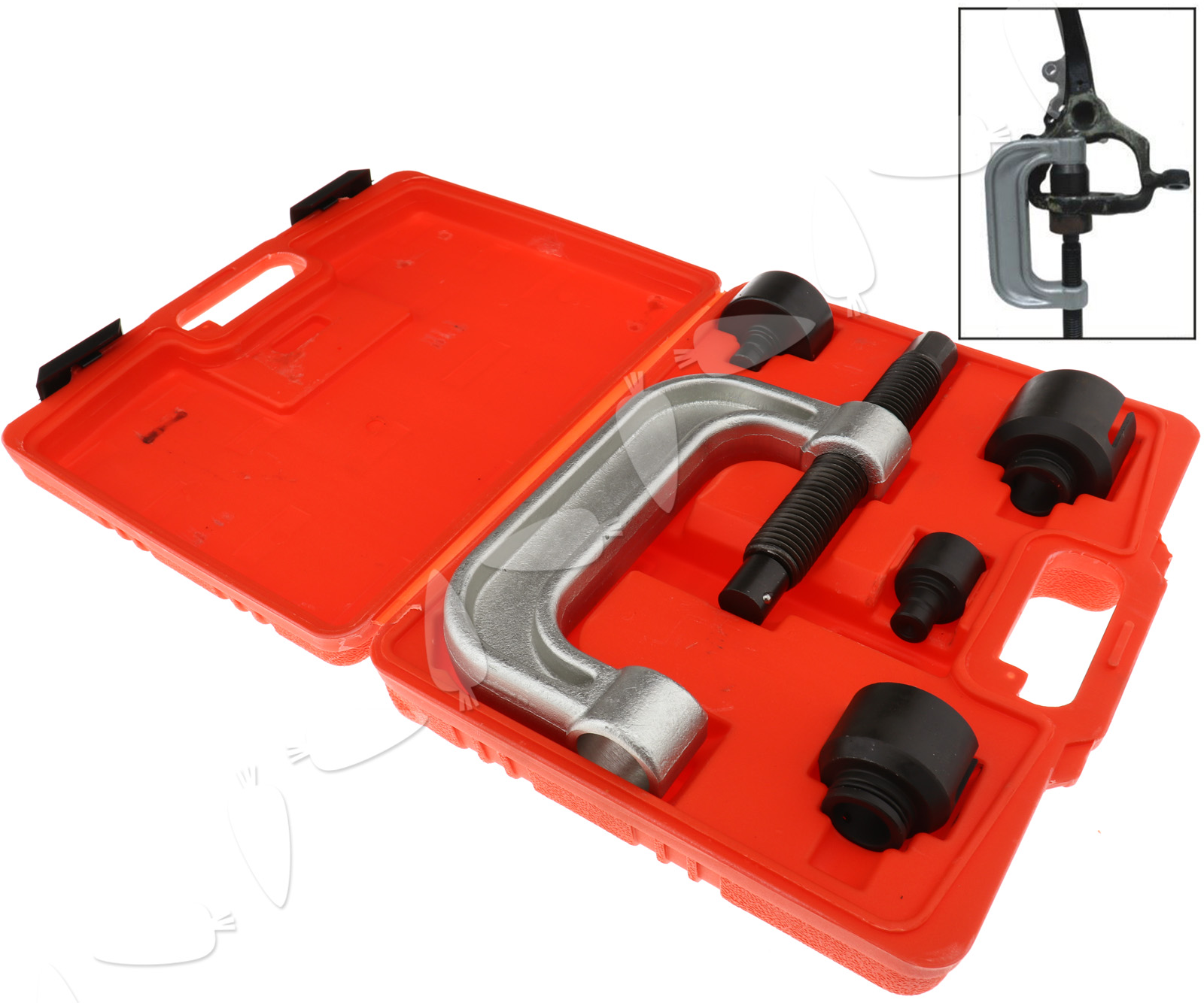 Ball joint press installer removal tool kit for mercedes for Mercedes benz tool kit