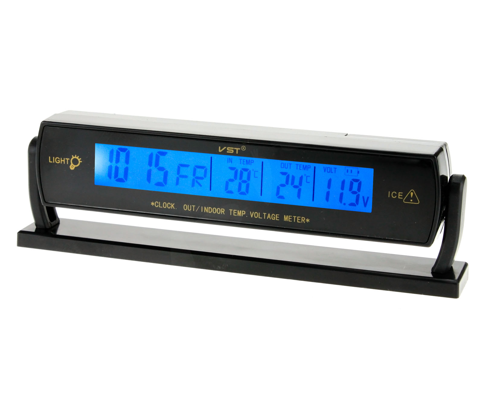 Battery Voltage Monitor : V lcd digital car voltage monitor battery alarm clock